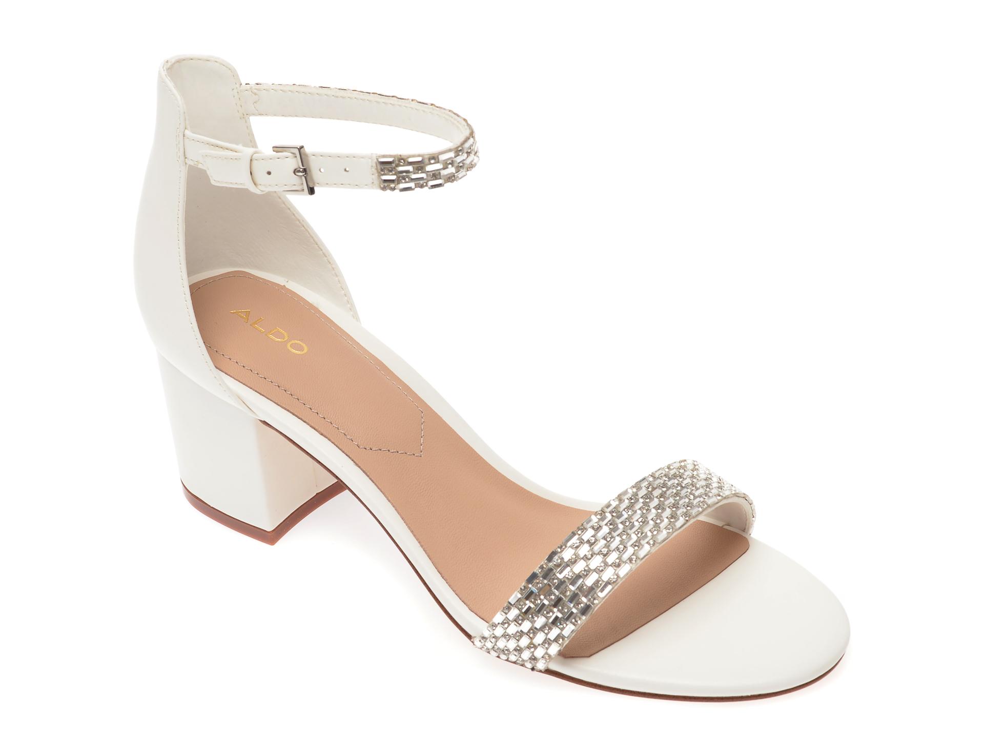 Sandale ALDO albe, Vanami100, din piele ecologica
