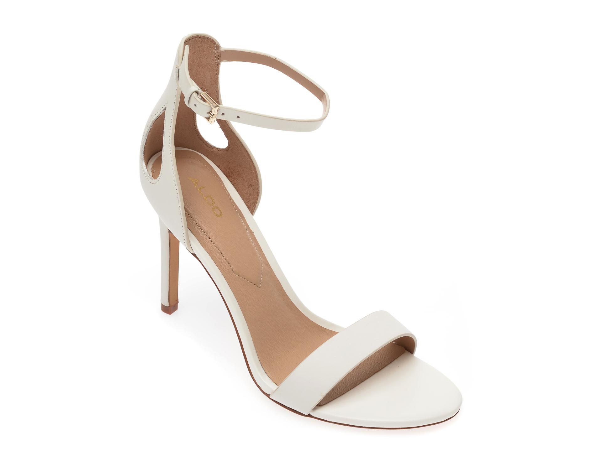 Sandale ALDO albe, Violla100, din piele naturala New