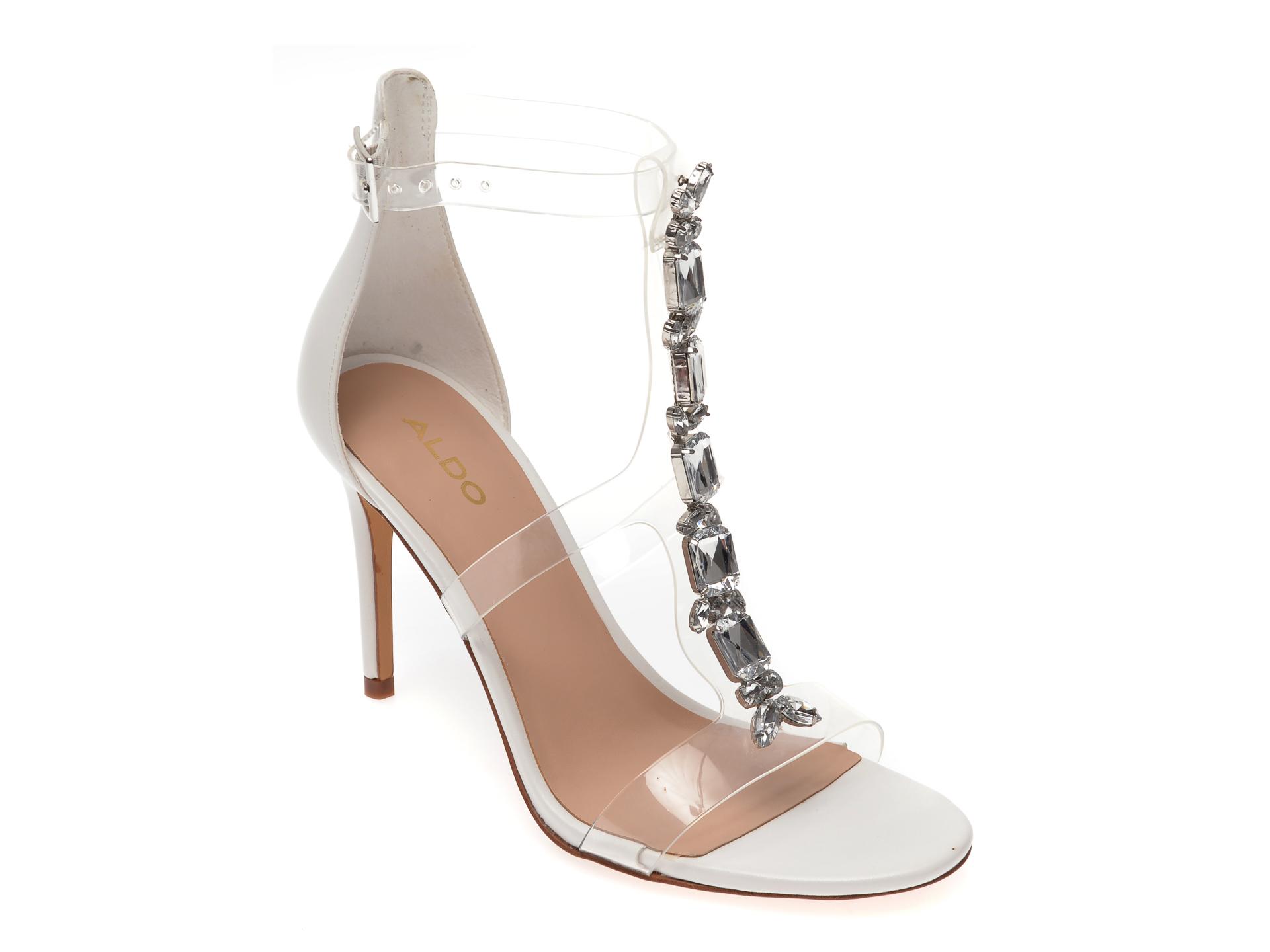 Sandale ALDO albe, Weberlaan100, din piele ecologica