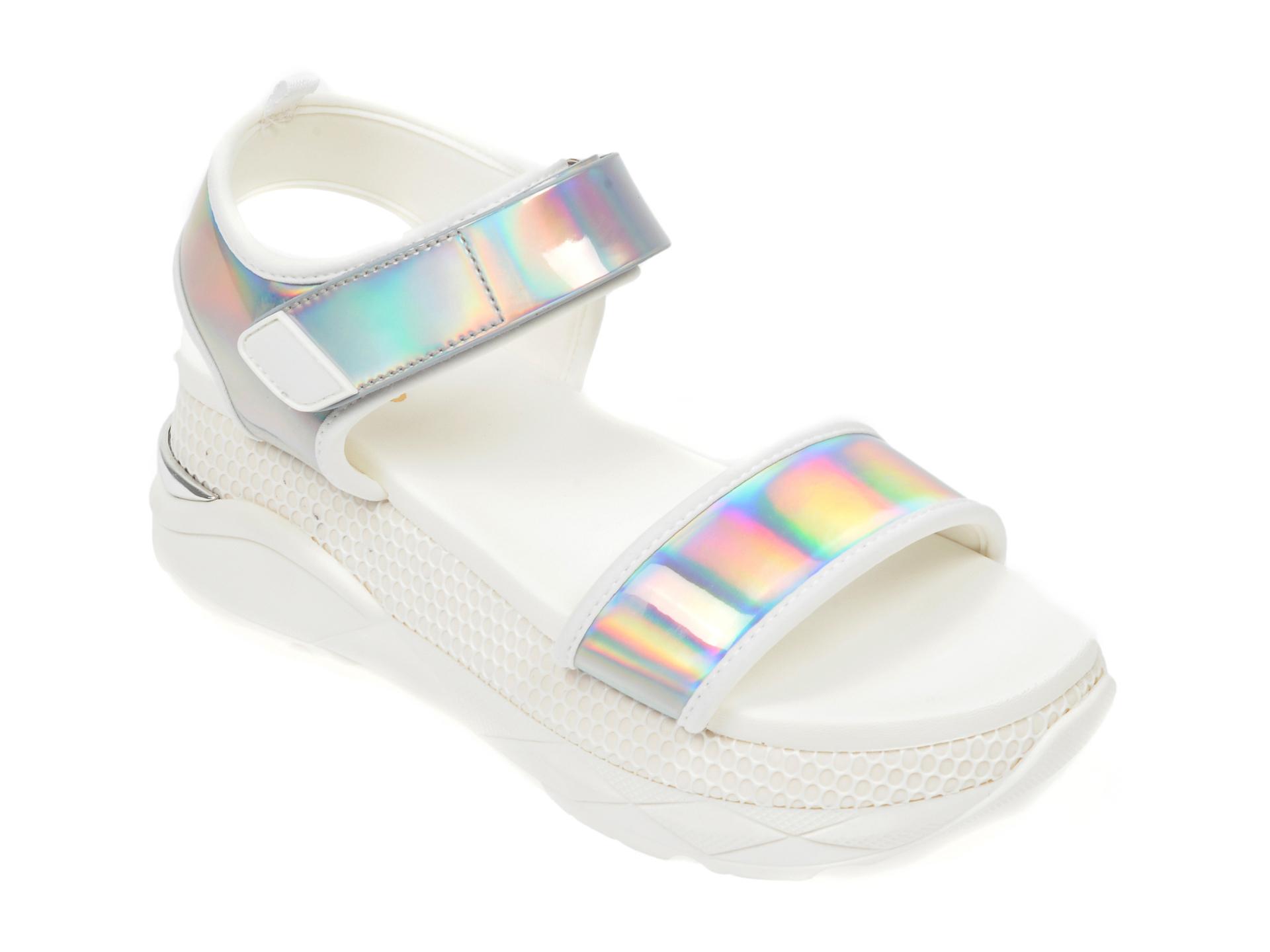 Sandale ALDO albe, Zarella-961, din piele ecologica New