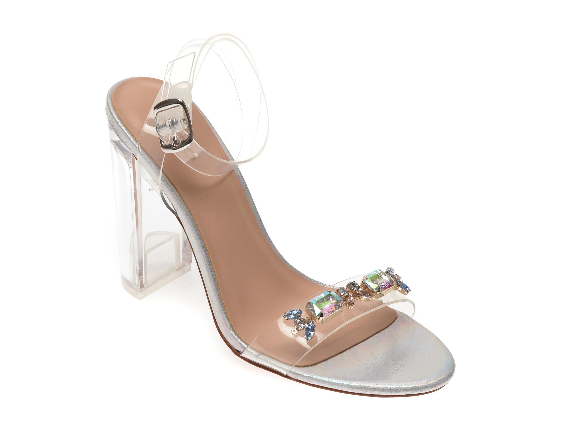 Sandale ALDO argintii, Aniwien962, din plastic