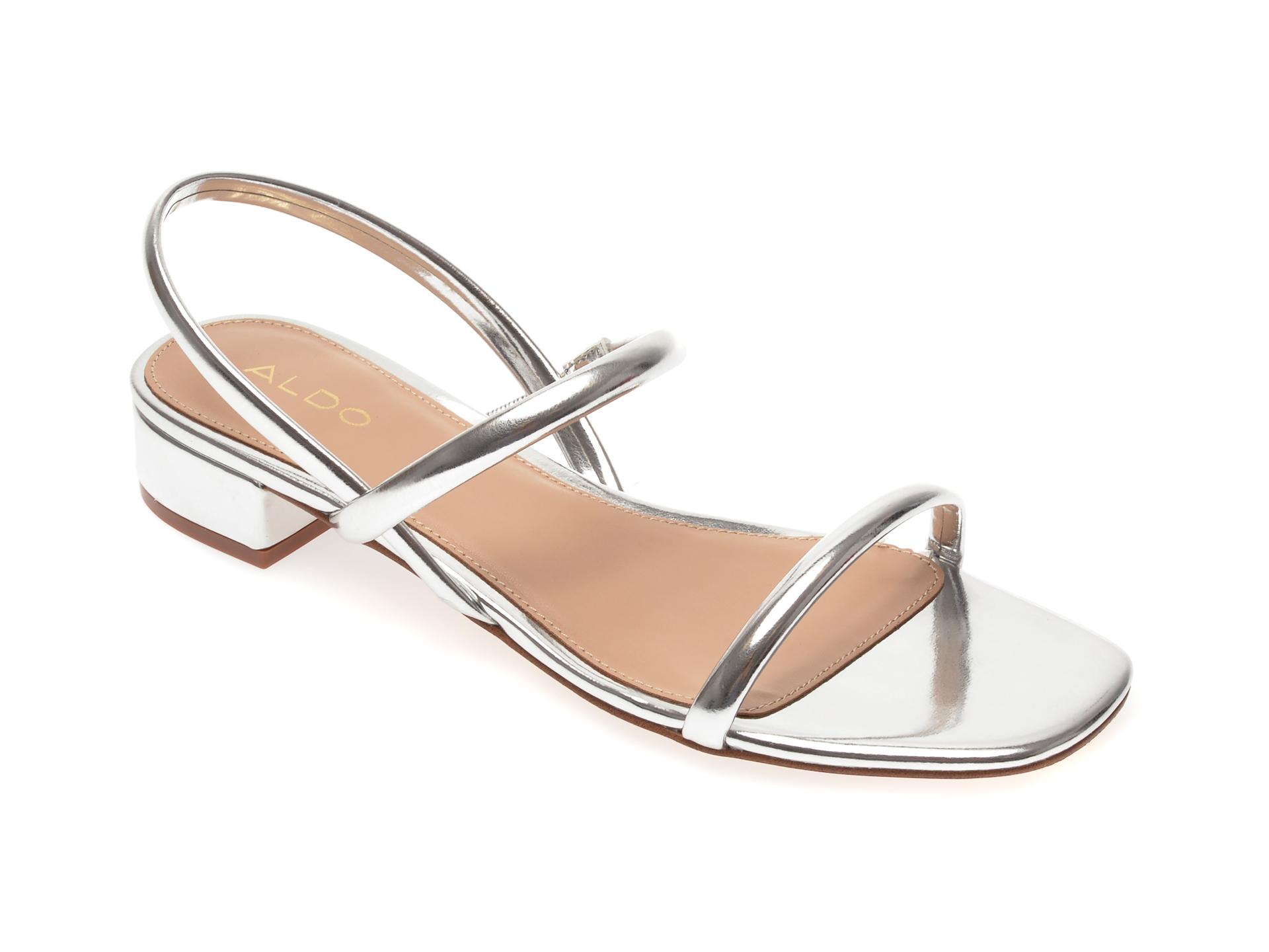 Sandale ALDO argintii, Candidly040, din piele ecologica New