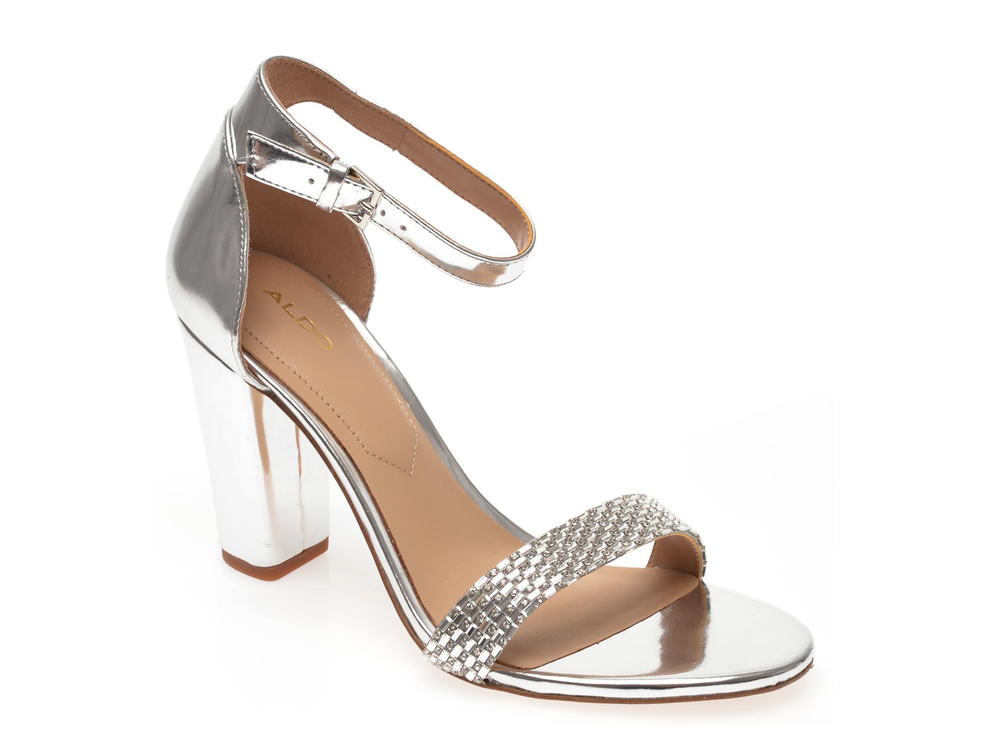 Sandale ALDO argintii, Jeraybling040, din piele ecologica New