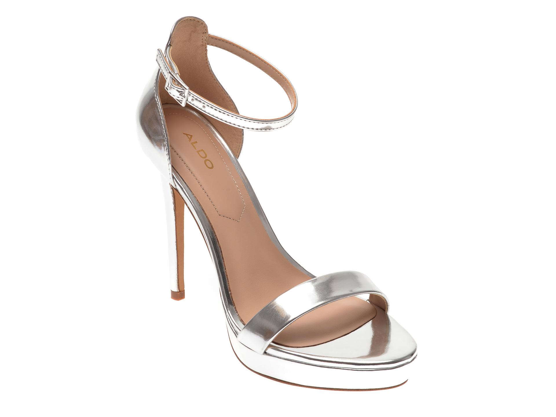 Sandale ALDO argintii, Madalene040, din piele ecologica imagine otter.ro