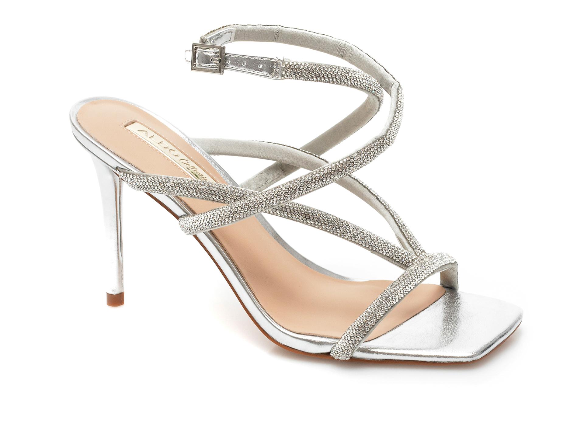 Sandale ALDO argintii, Onga040, din material textil imagine otter.ro 2021