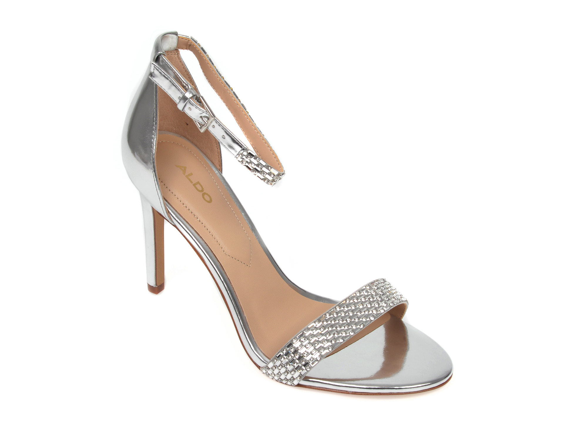 Sandale ALDO argintii, Prommy040, din piele ecologica