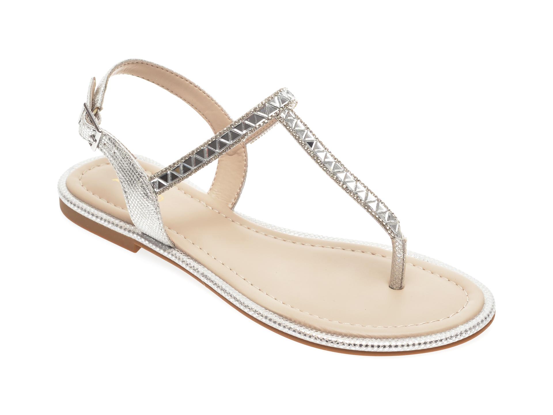 Sandale ALDO argintii, Sheeny040, din piele ecologica