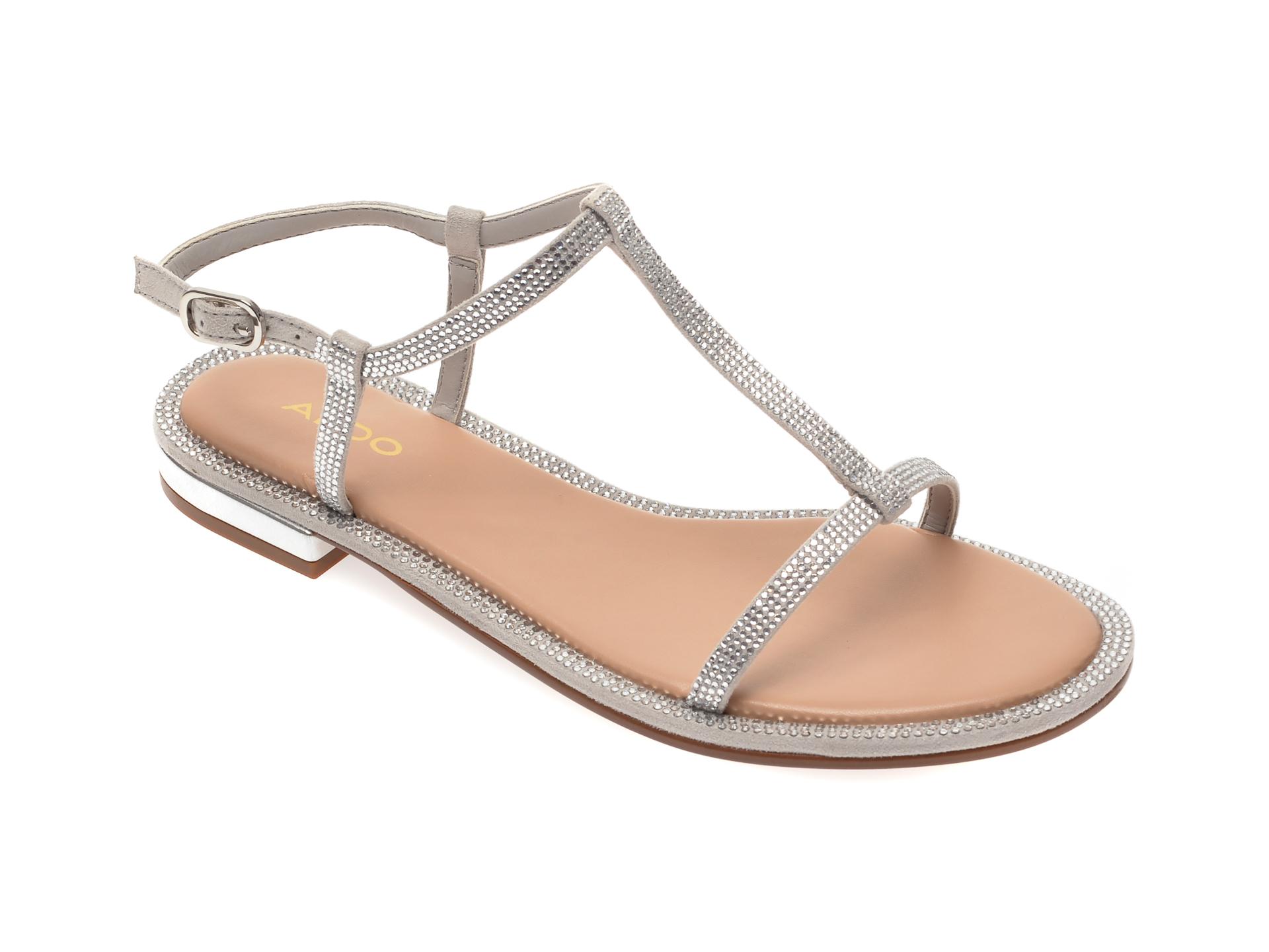 Sandale ALDO argintii, Yboimma040, din piele ecologica imagine otter.ro