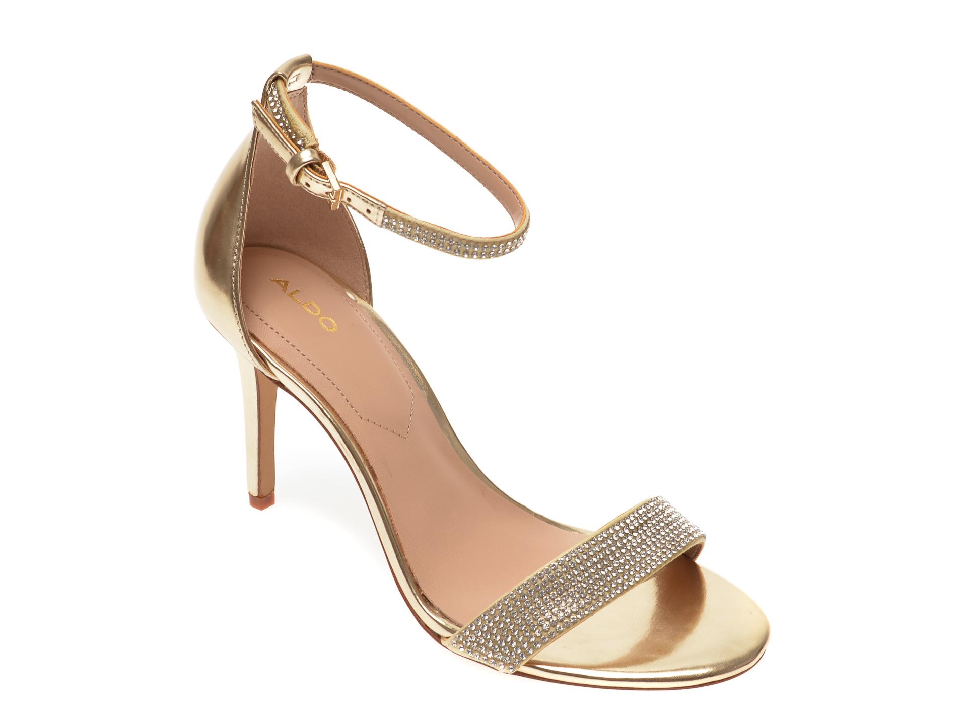 Sandale ALDO aurii, Alodien710, din piele ecologica New