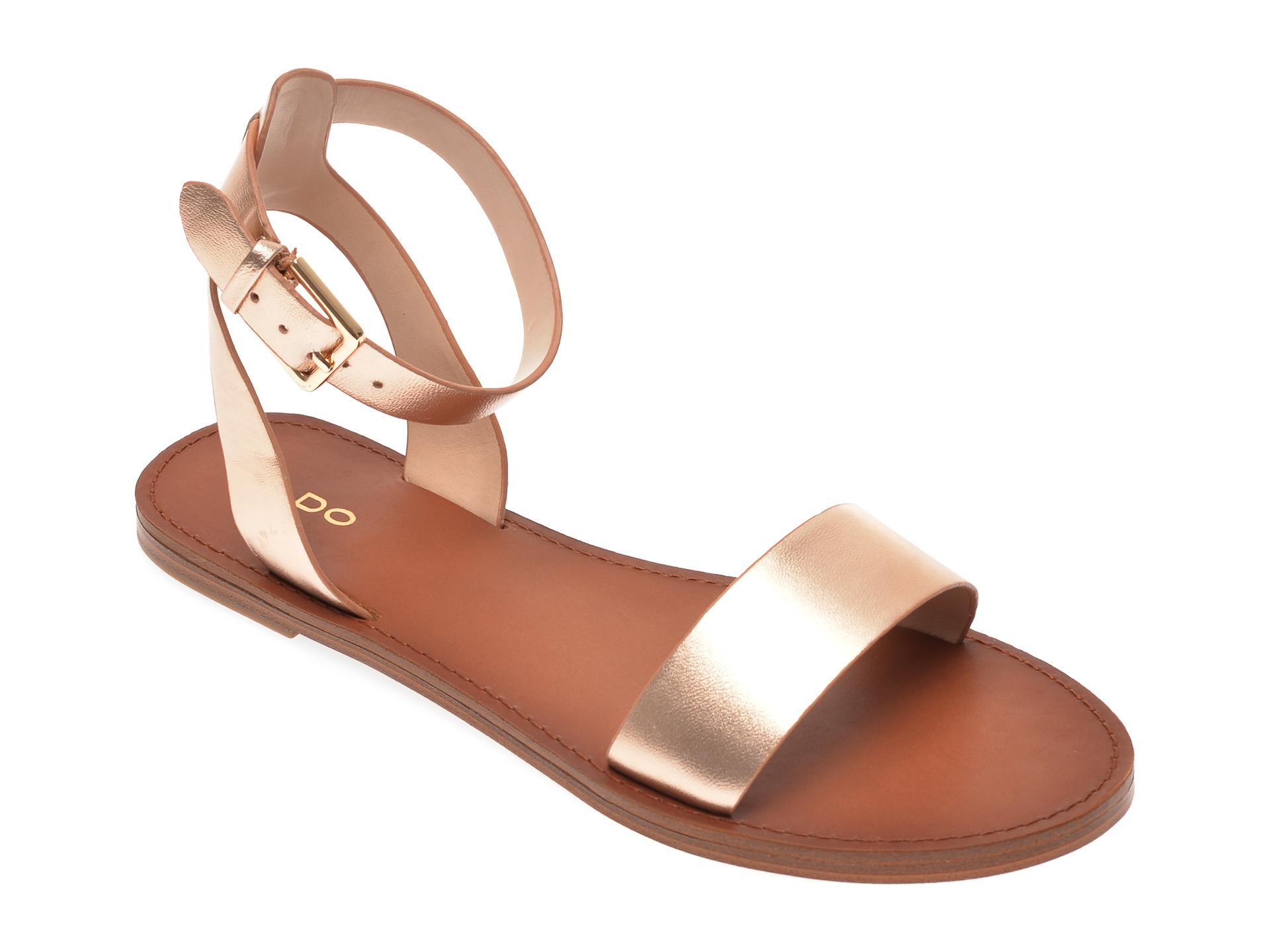 Sandale ALDO aurii, Campodoro962, din piele naturala