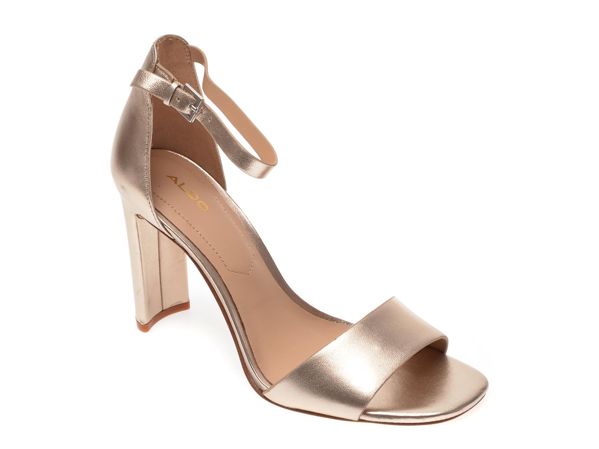 Sandale ALDO aurii, Jeremy041, din piele naturala