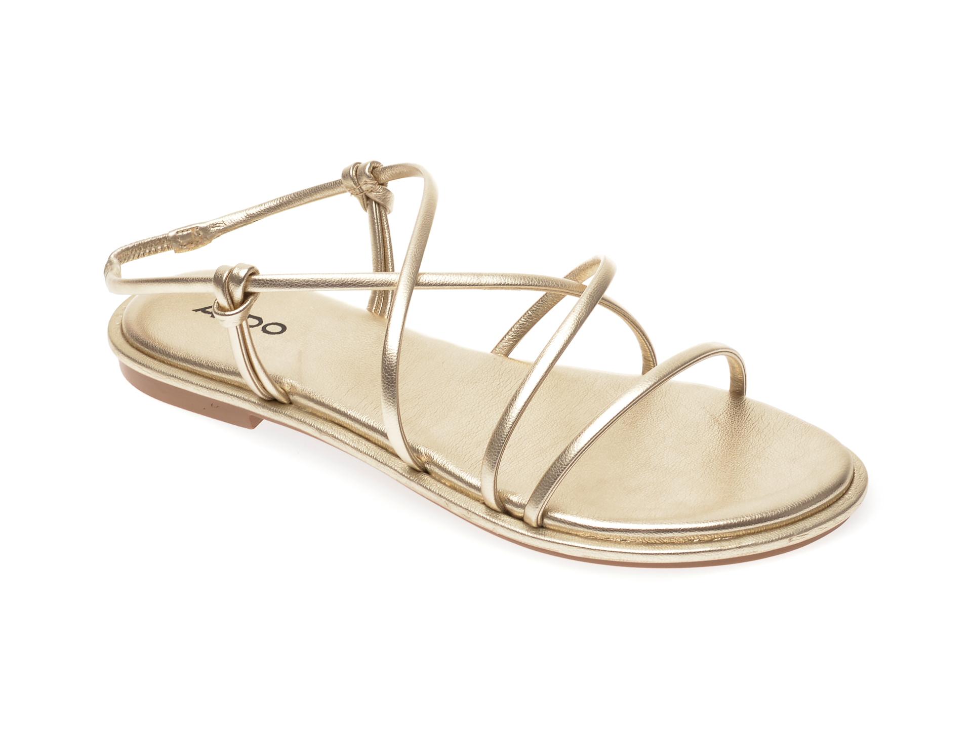 Sandale ALDO aurii, Kuerten710, din piele ecologica