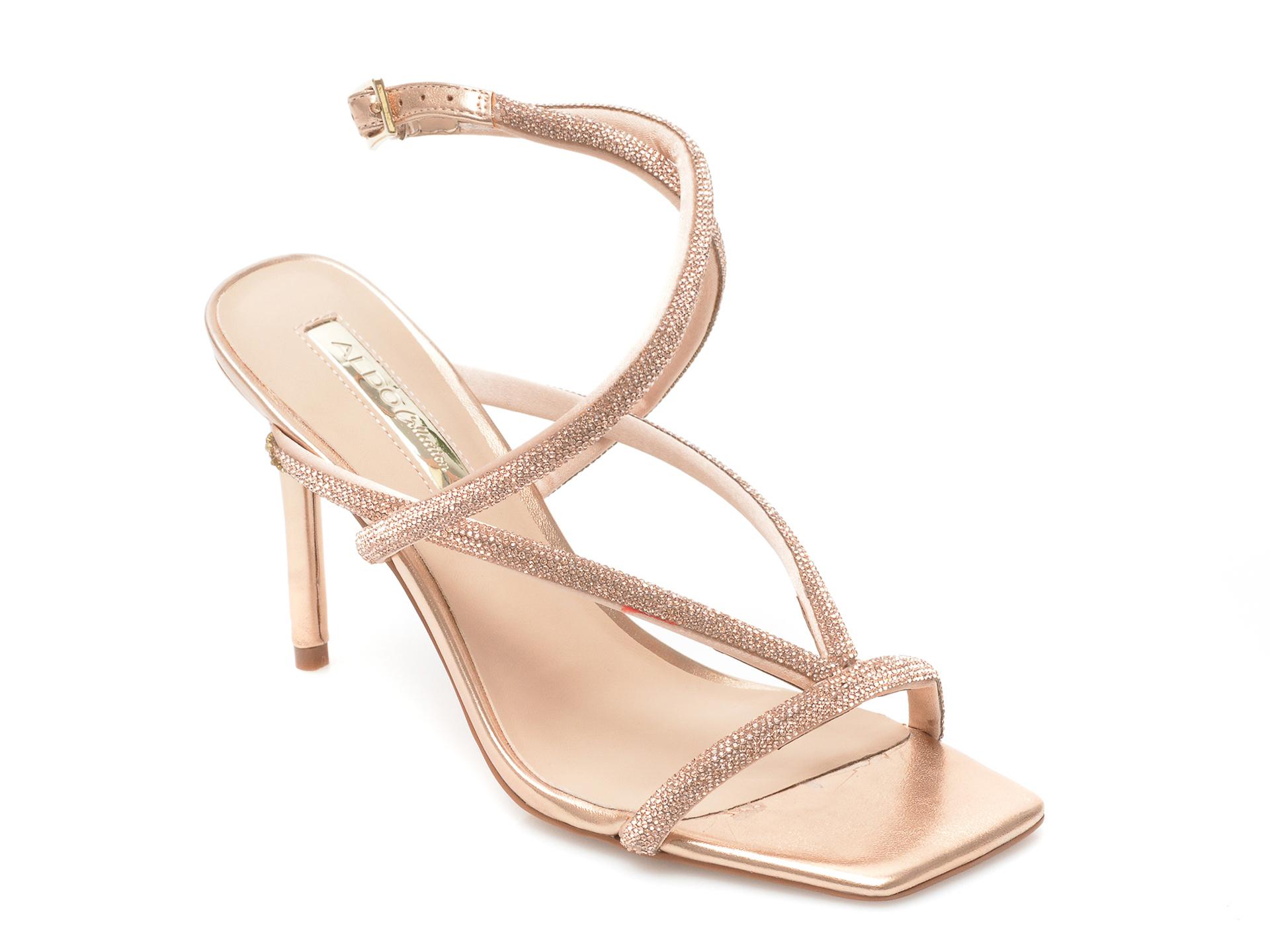 Sandale ALDO aurii, Onga653, din material textil imagine otter.ro 2021