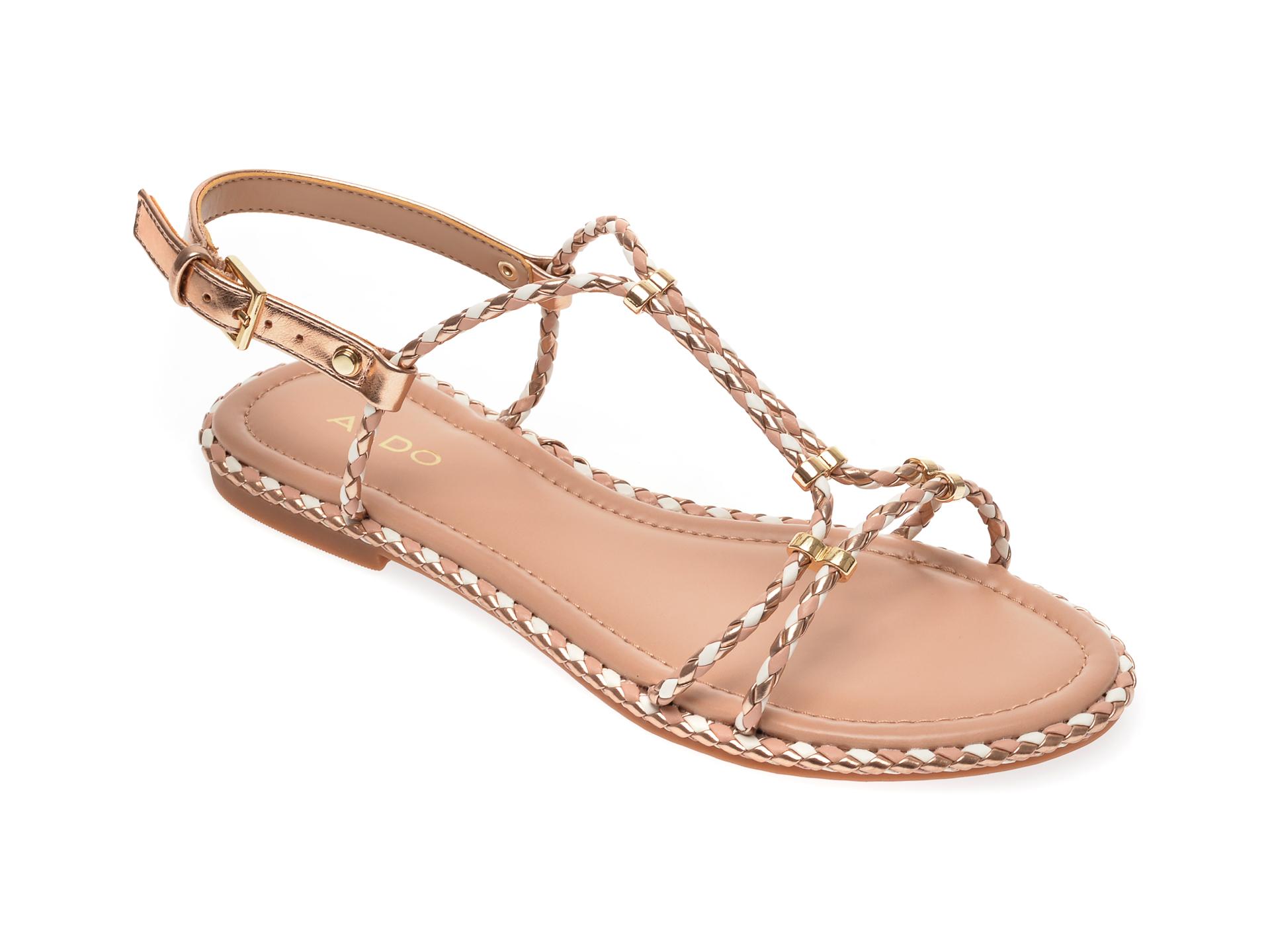 Sandale ALDO aurii, Qilinna653, din piele ecologica imagine