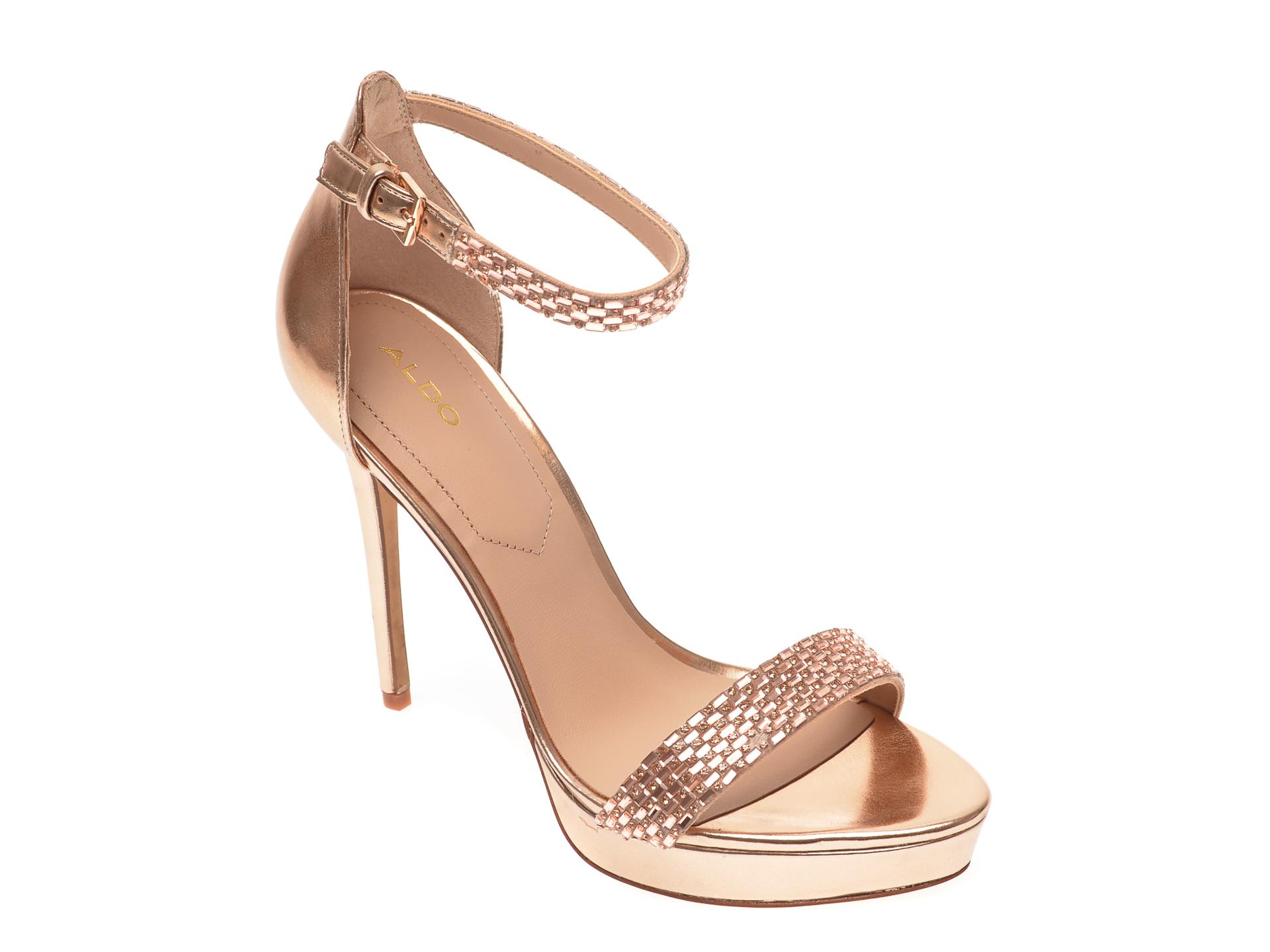 Sandale ALDO aurii, Stunning653, din piele ecologica imagine otter.ro 2021