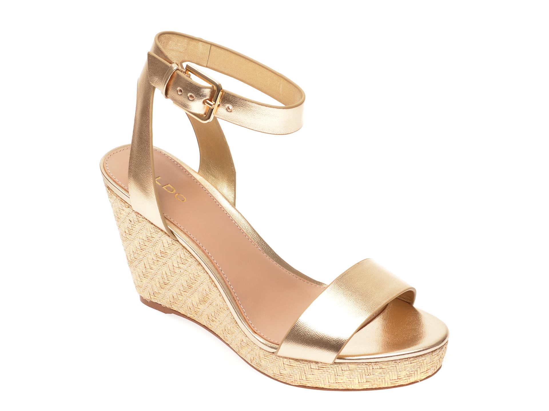Sandale ALDO aurii, Unaliviel710, din piele ecologica