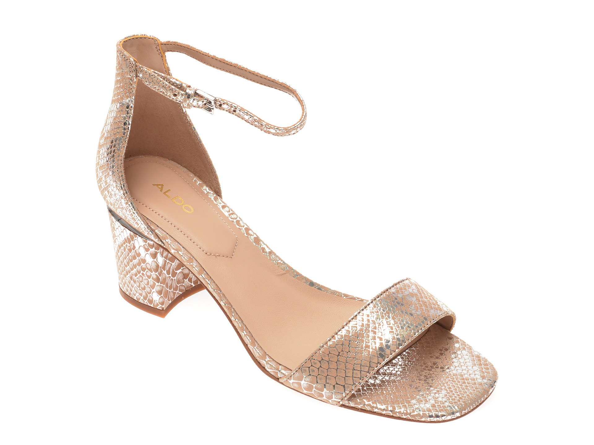 Sandale ALDO aurii, Valentina041, din piele naturala New