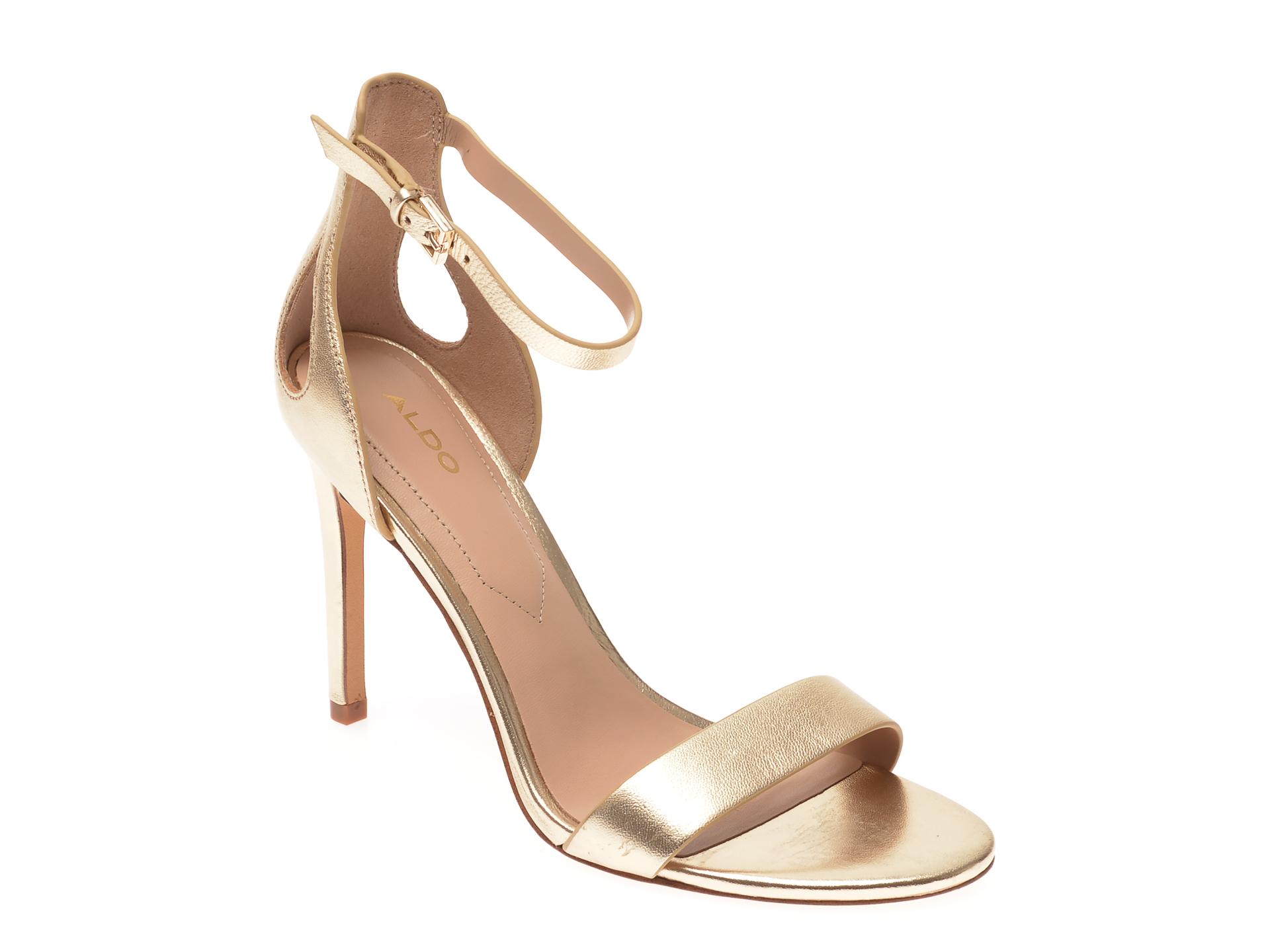 Sandale ALDO aurii, Violla710, din piele naturala