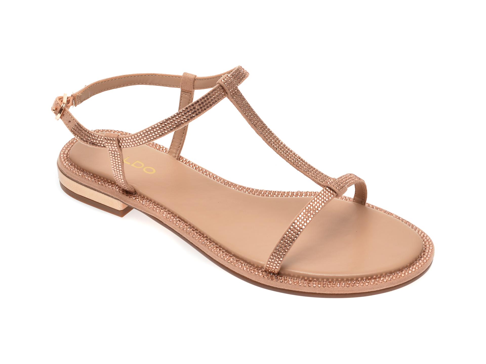 Sandale ALDO aurii, Yboimma653, din material textil