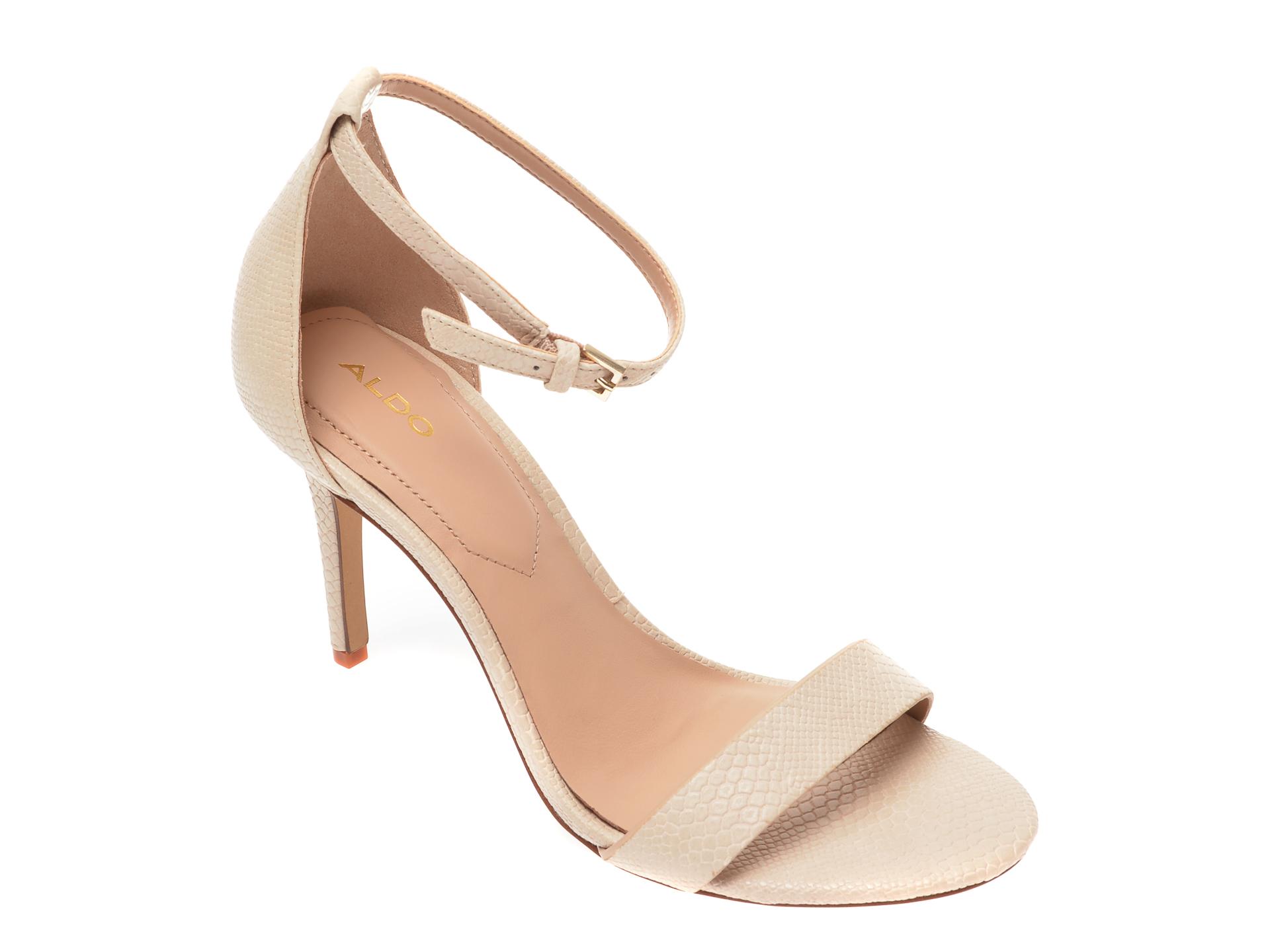 Sandale ALDO bej, Piliria270, din piele ecologica