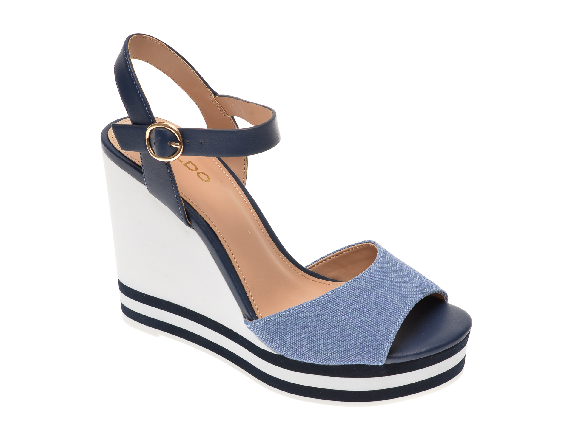 Sandale ALDO bleumarin, Broa410, din material textil imagine