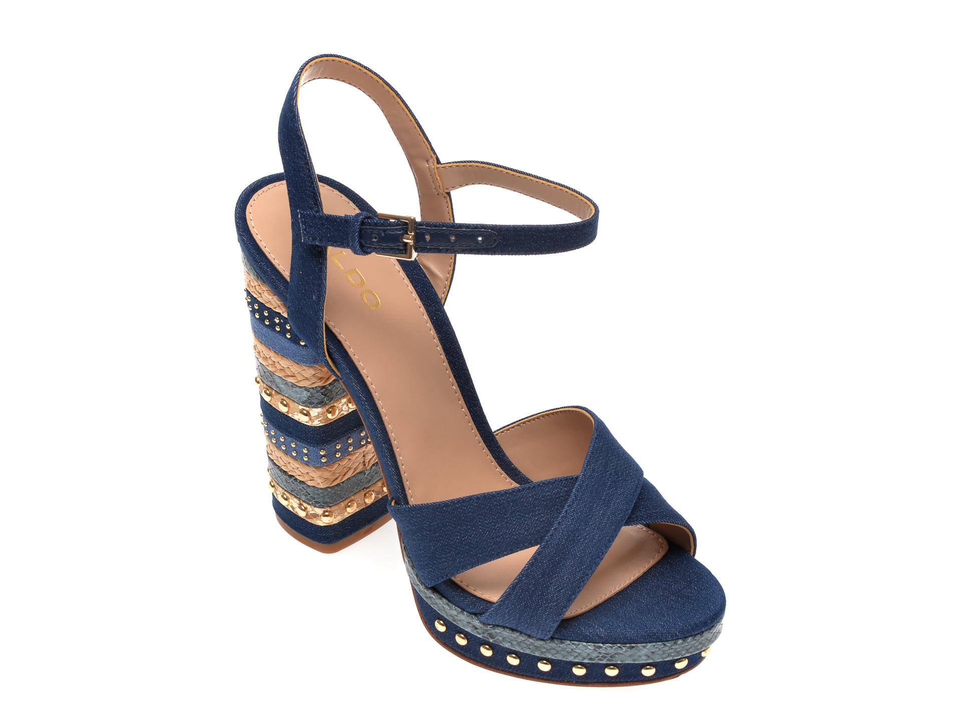Sandale ALDO bleumarin, Hugs401, din material textil New