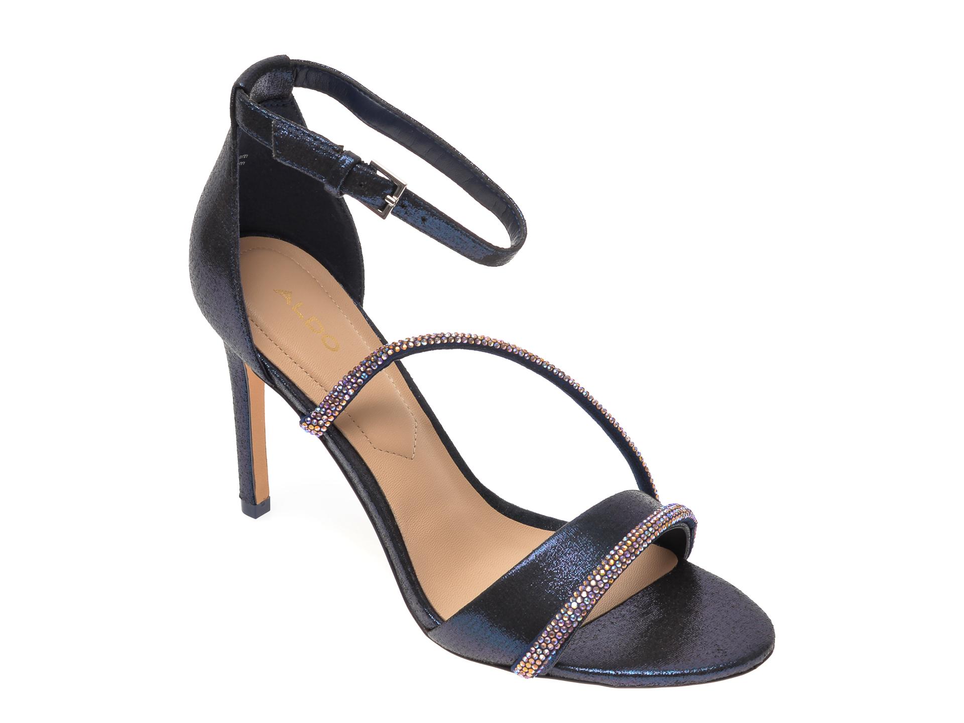 Sandale ALDO bleumarin, Kuprina410, din material textil New