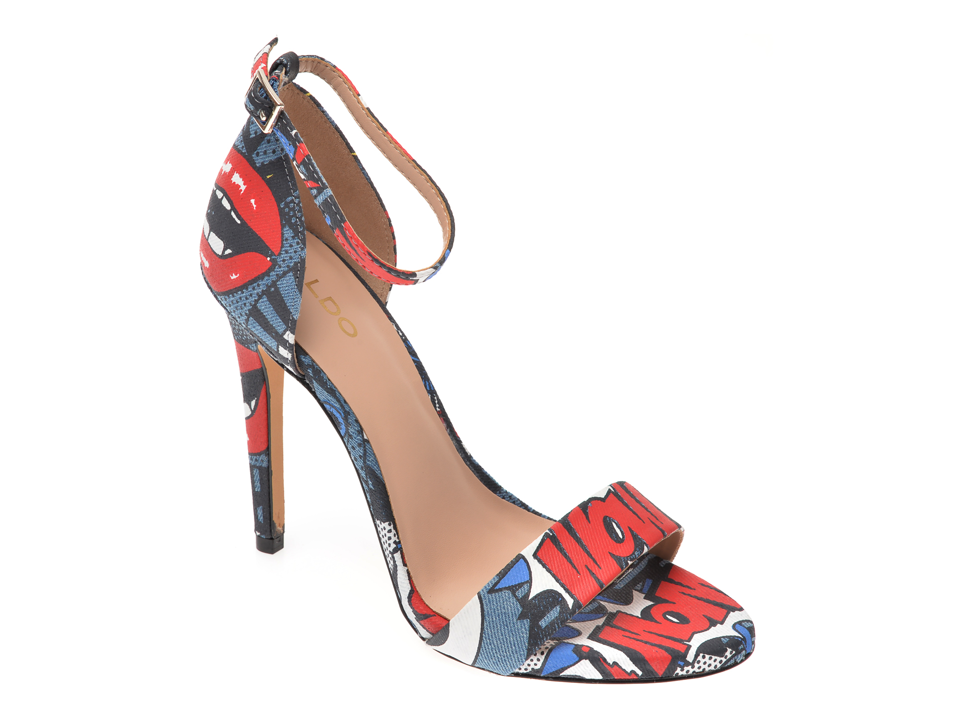 Sandale ALDO bleumarin, Thindra460, din material textil New