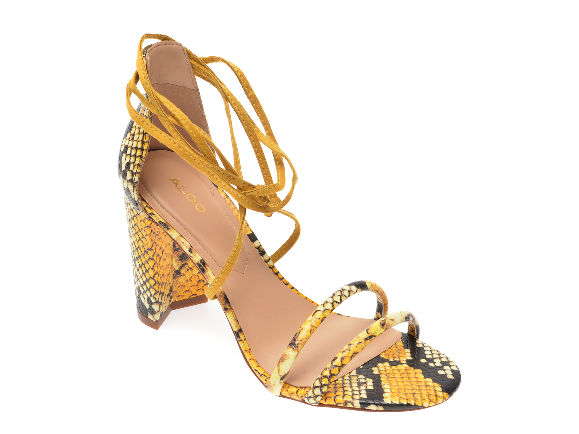 Sandale ALDO galbene, Nyderia750, din piele ecologica
