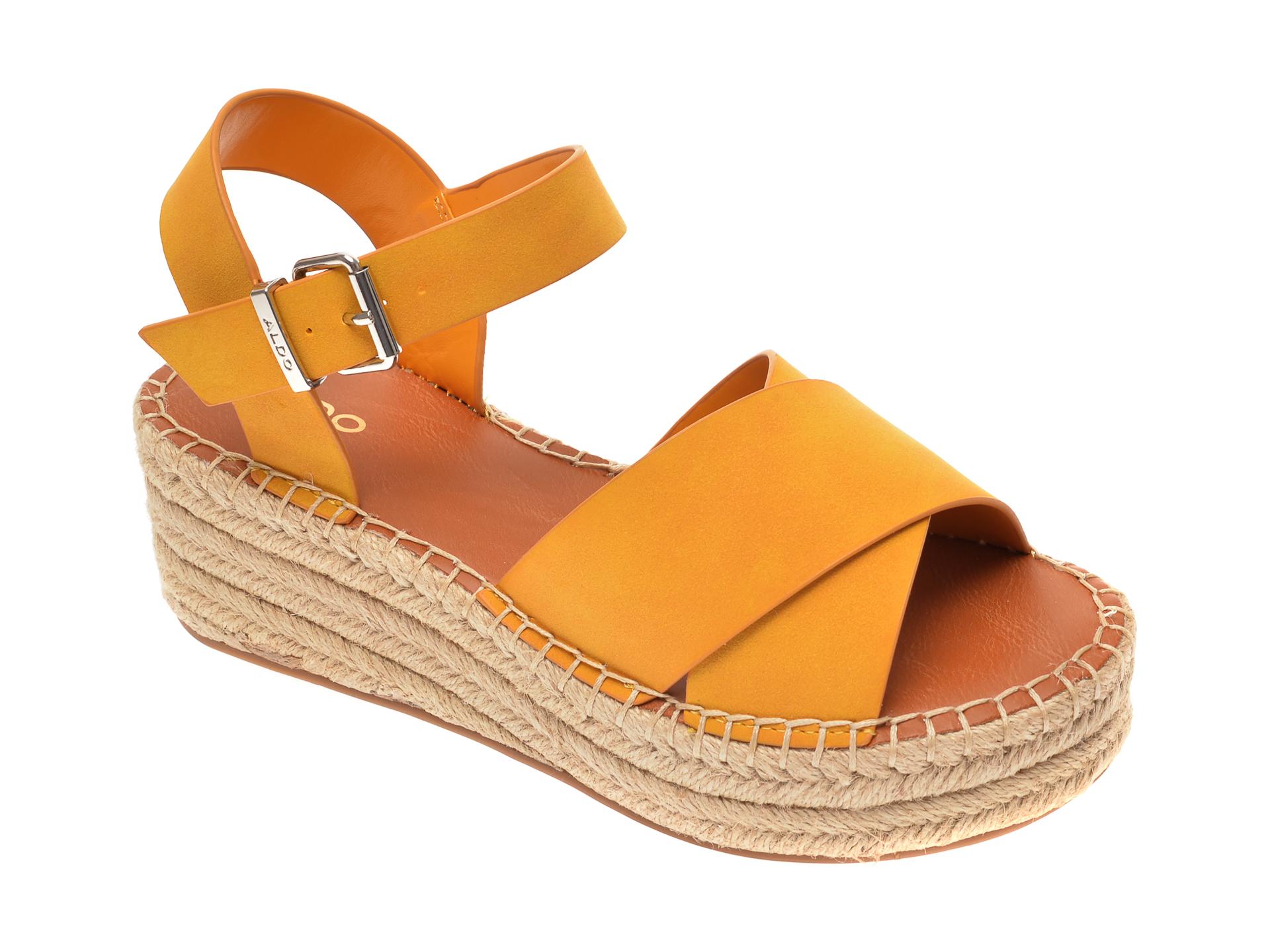 Sandale ALDO galbene, Tineviel700, din piele ecologica