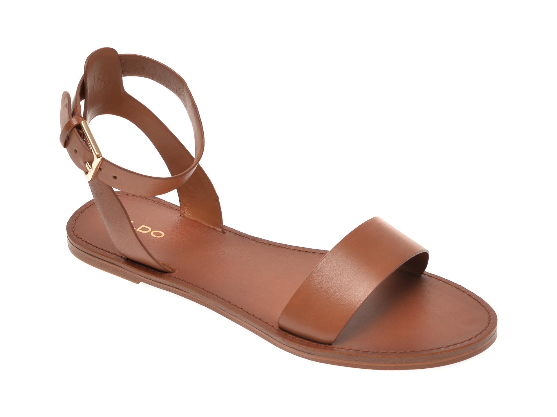 Sandale ALDO maro, Campodoro220, din piele naturala New