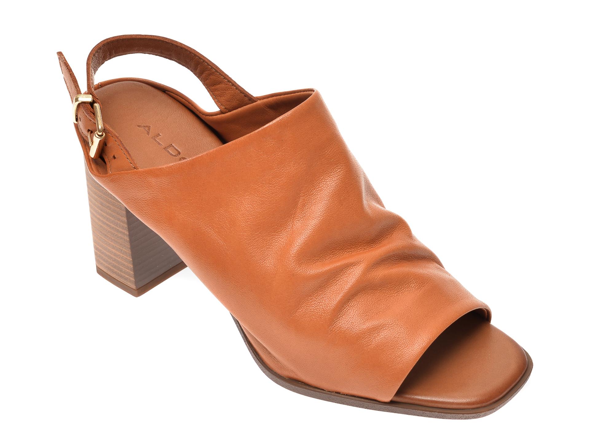 Sandale ALDO maro, Casameada220, din piele naturala imagine otter.ro 2021