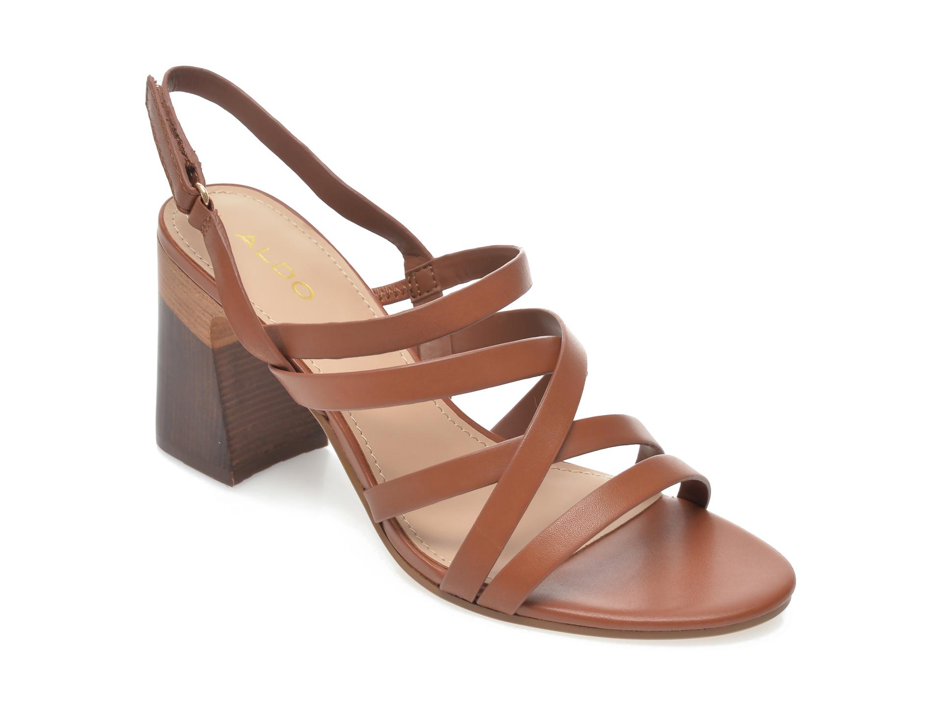 Sandale ALDO maro, Dindiloa220, din piele naturala imagine otter.ro