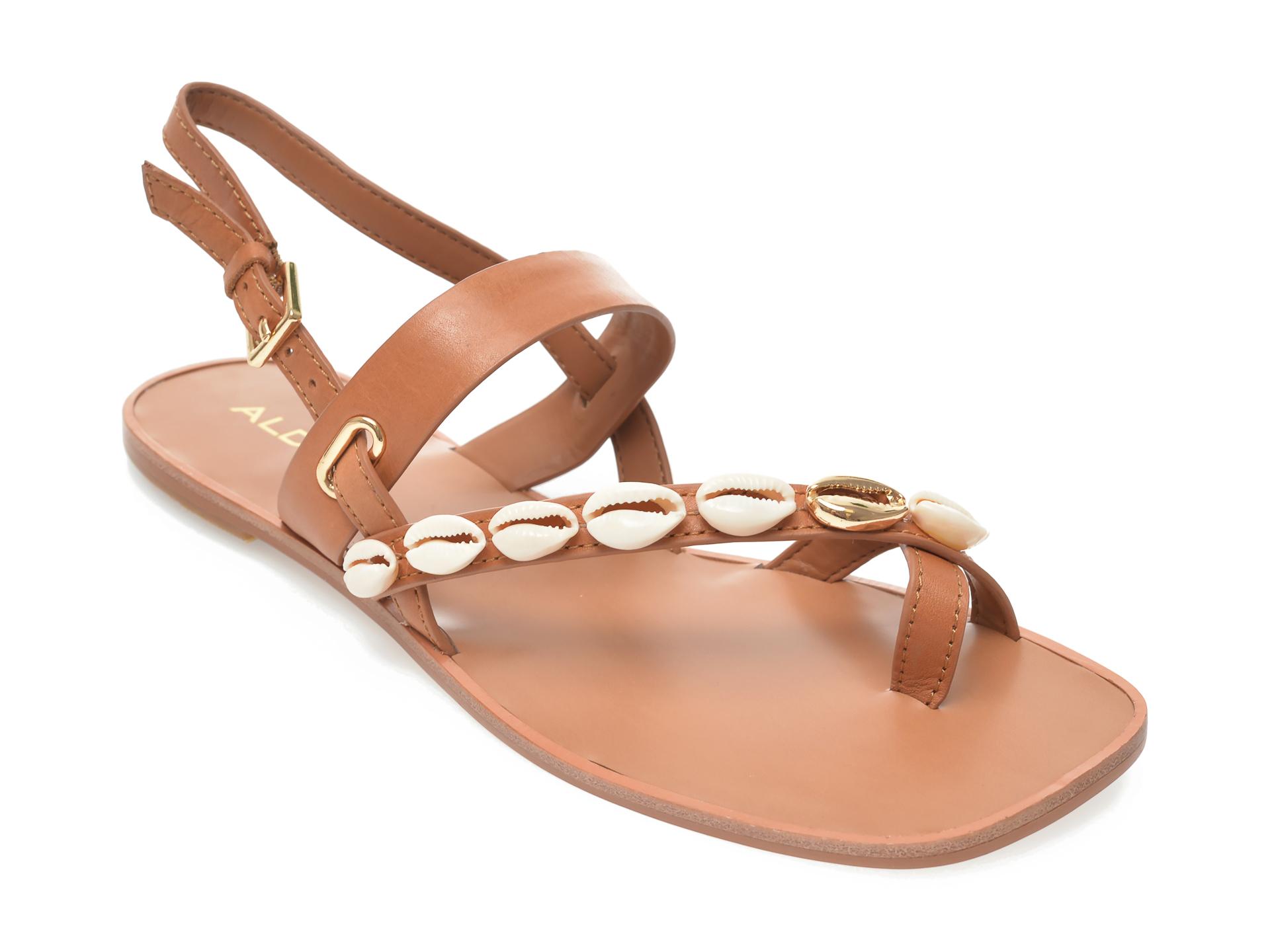 Sandale ALDO maro, Felaria220, din piele naturala imagine otter.ro 2021
