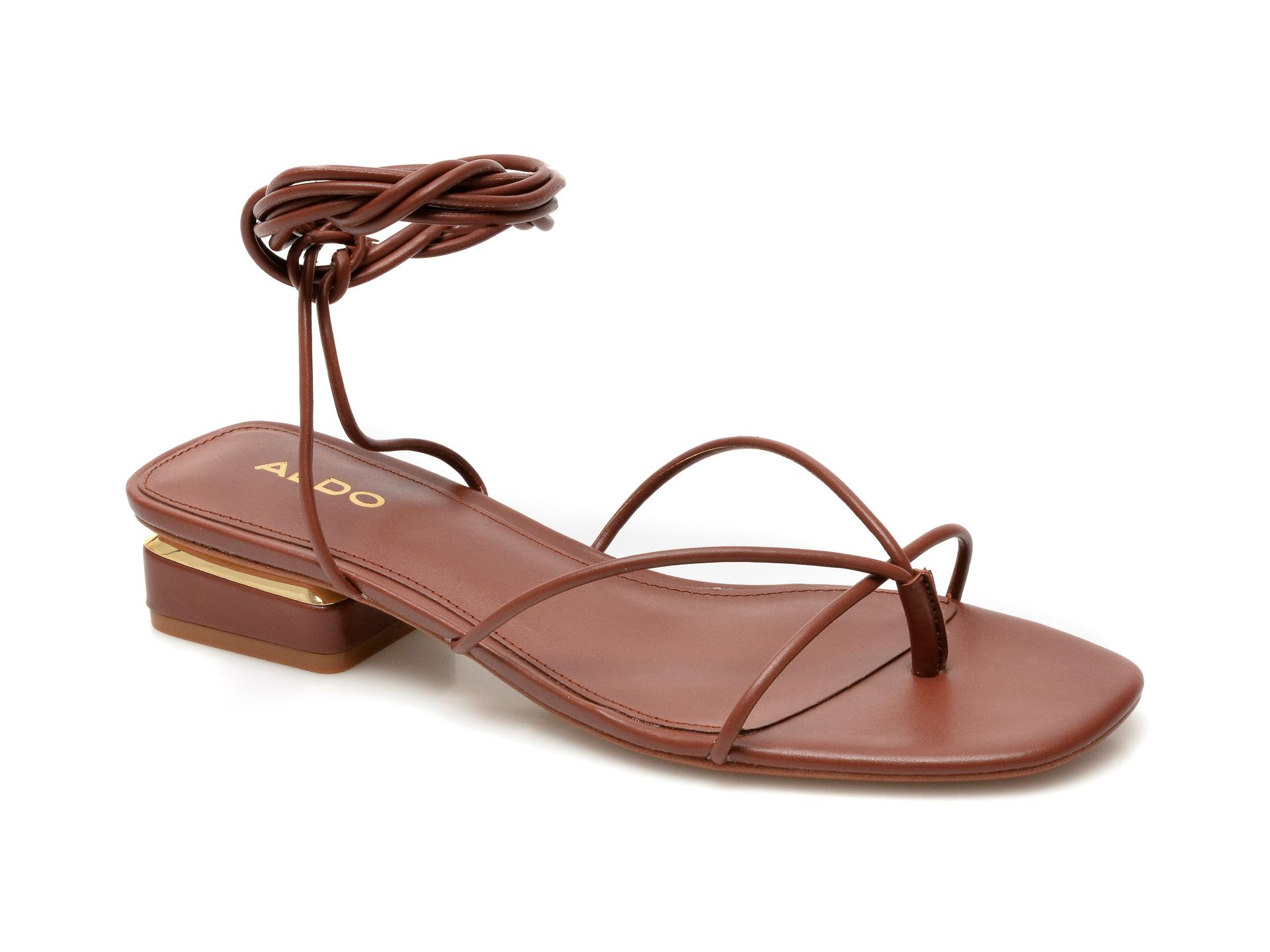 Sandale ALDO maro, Giannaflex210, din piele ecologica imagine otter.ro