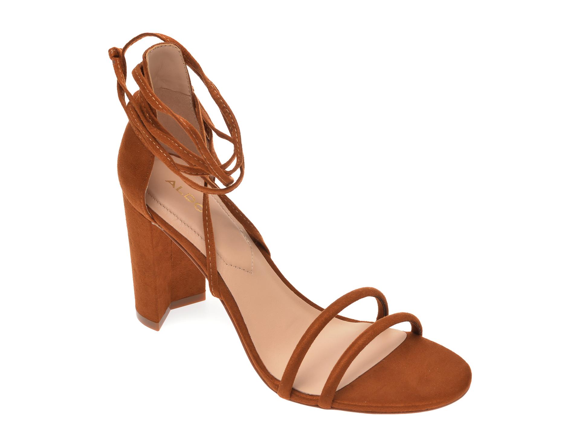 Sandale ALDO maro, Nyderia230, din piele ecologica