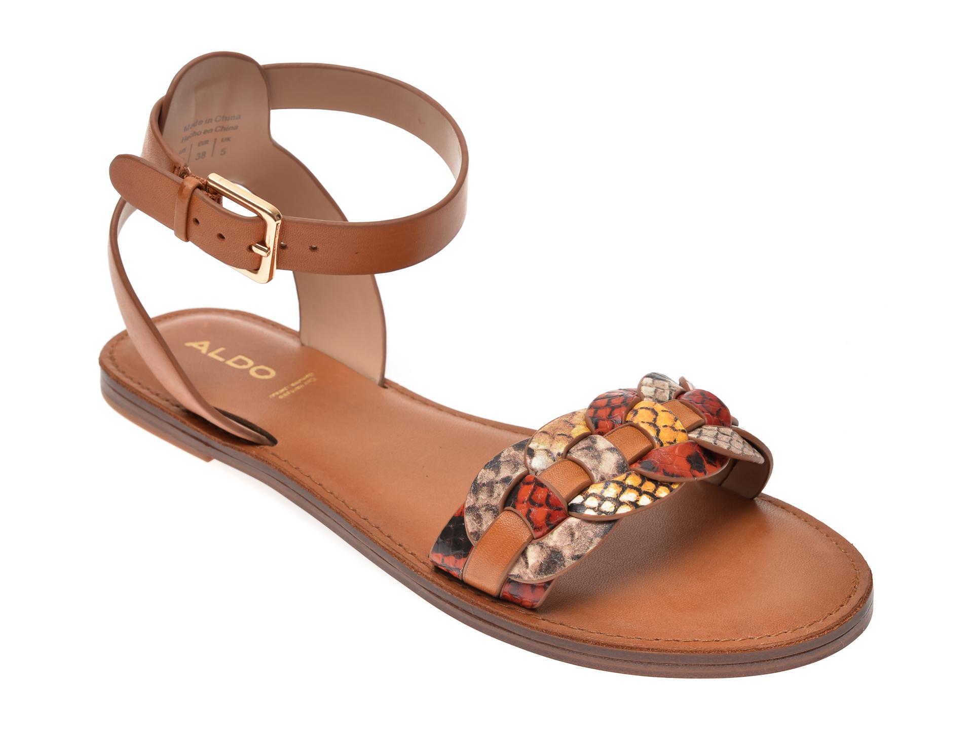 Sandale ALDO multicolor, Ligaria960, din piele naturala