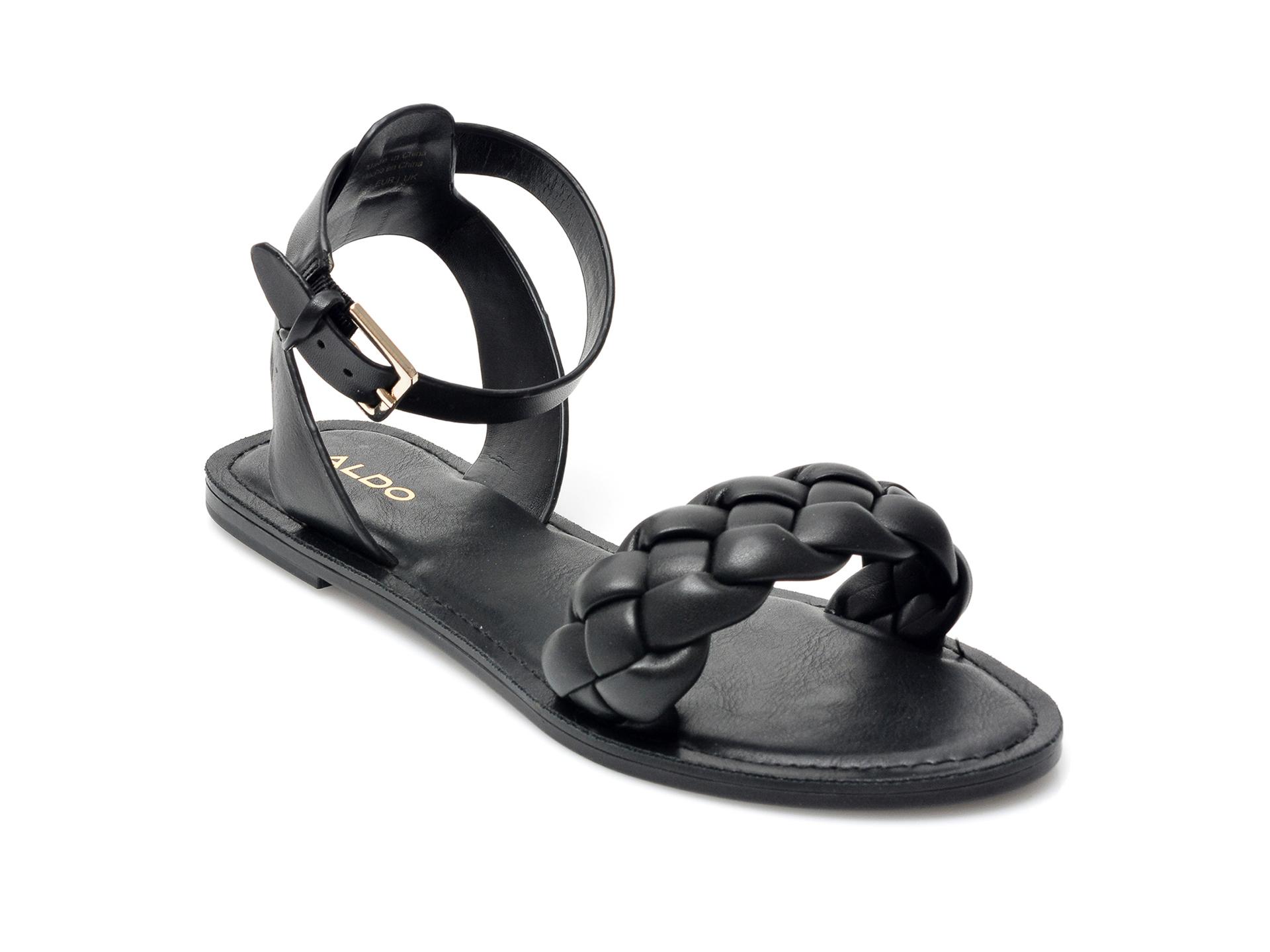 Sandale ALDO negre, 13190674, din piele naturala imagine otter.ro