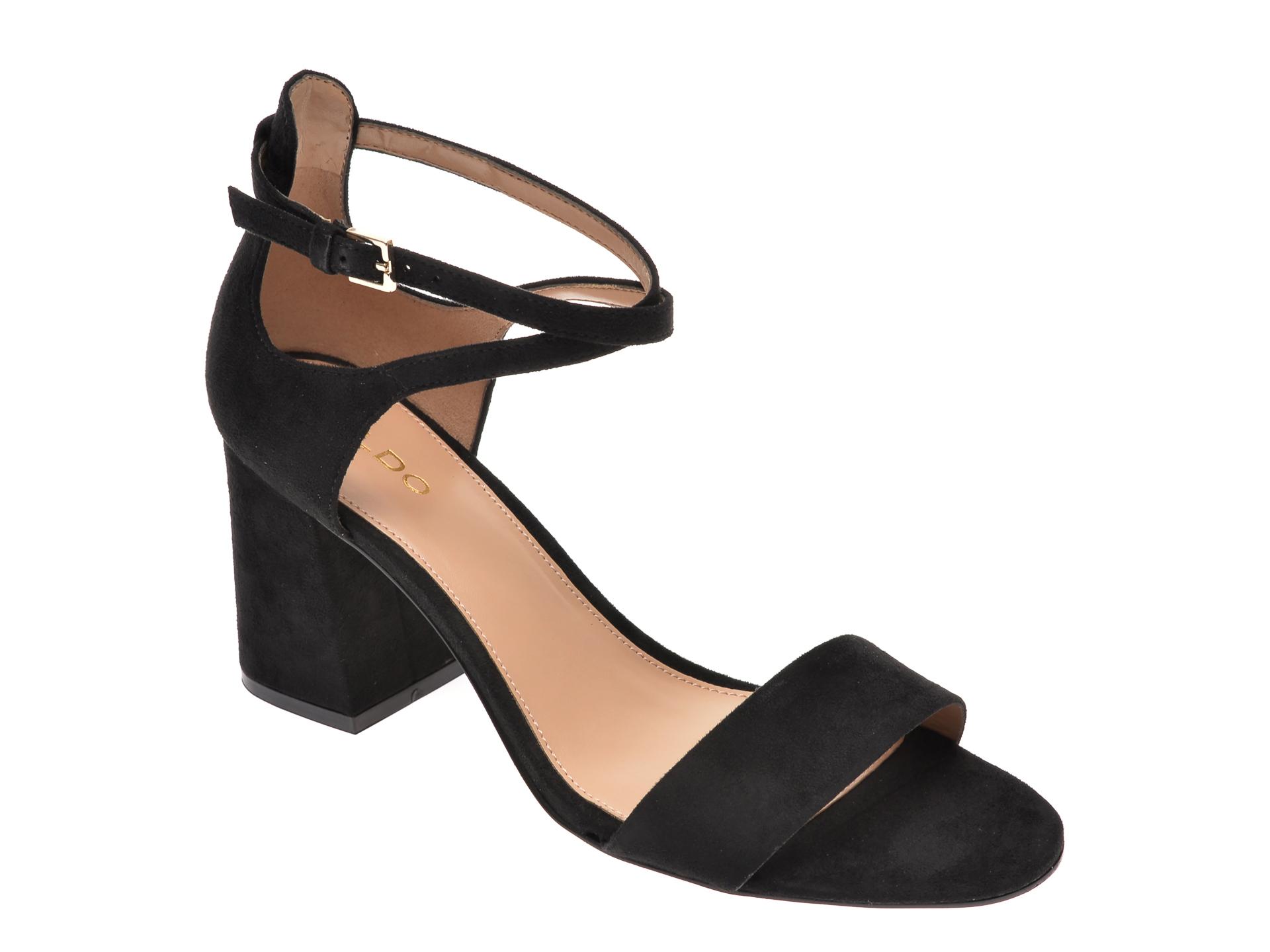 Sandale ALDO negre, Aboedia001, din piele ecologica