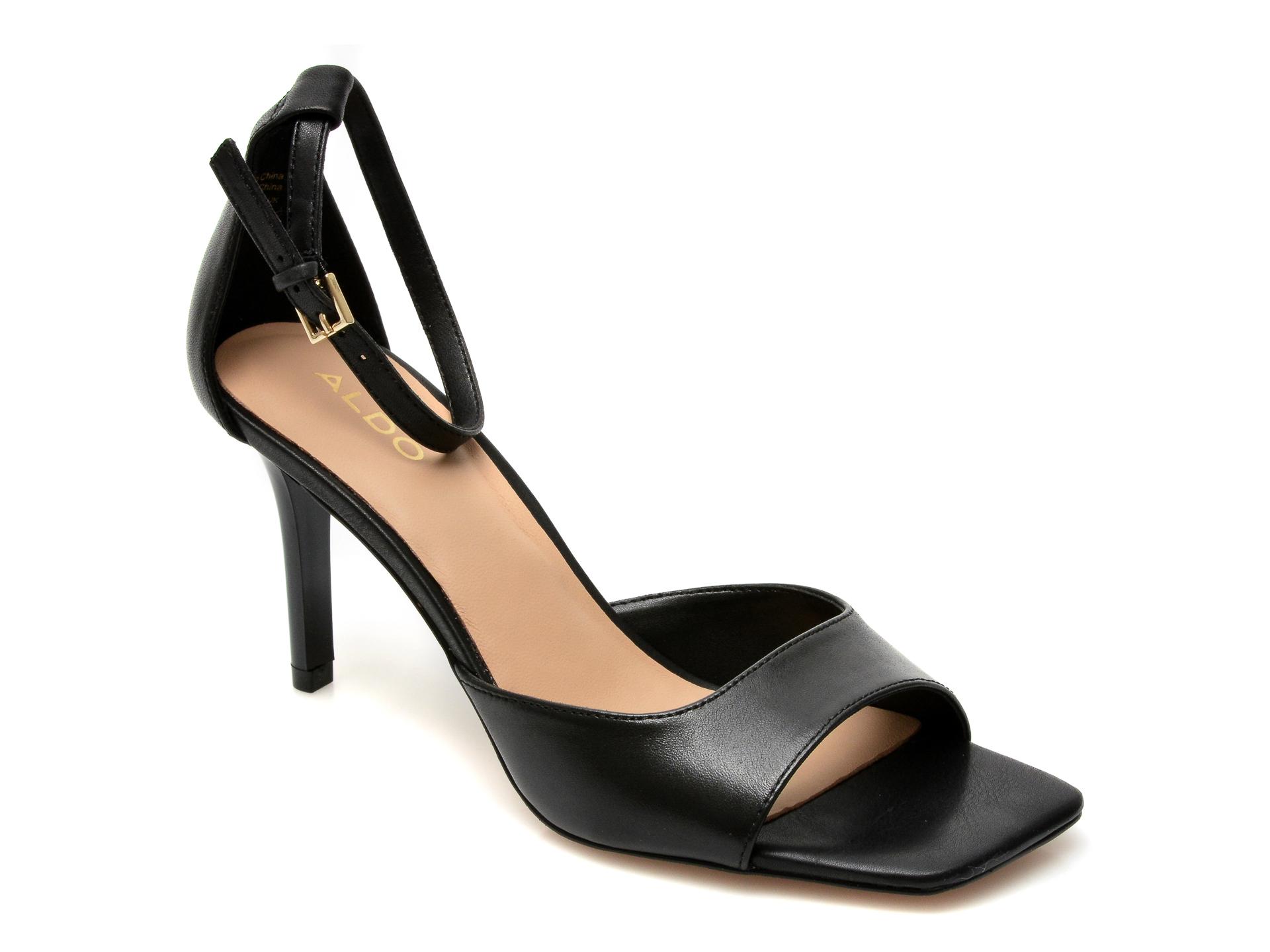 Sandale ALDO negre, Asteama001, din piele naturala New