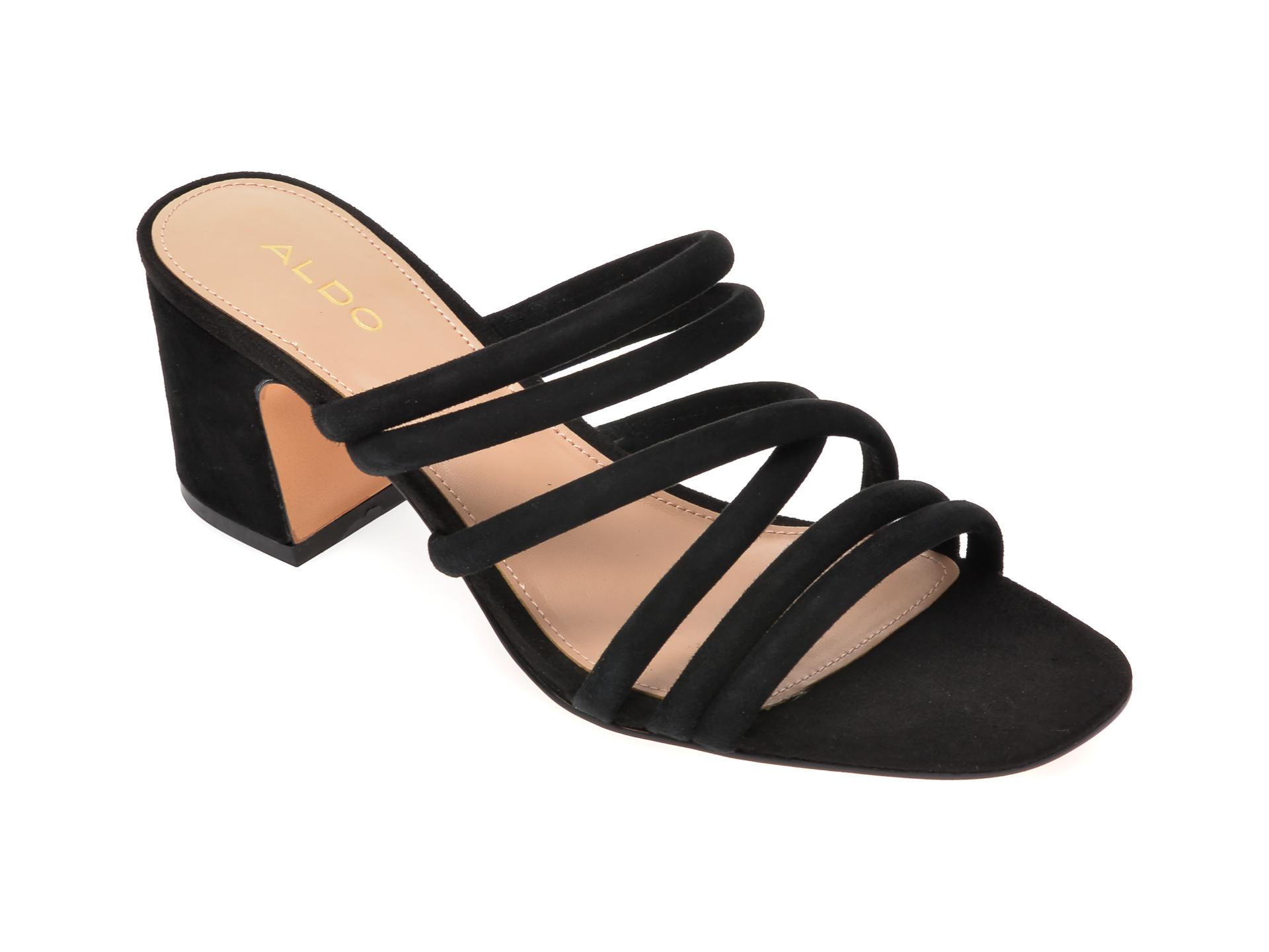 Sandale ALDO negre, Atlanta001, din piele intoarsa imagine otter.ro 2021