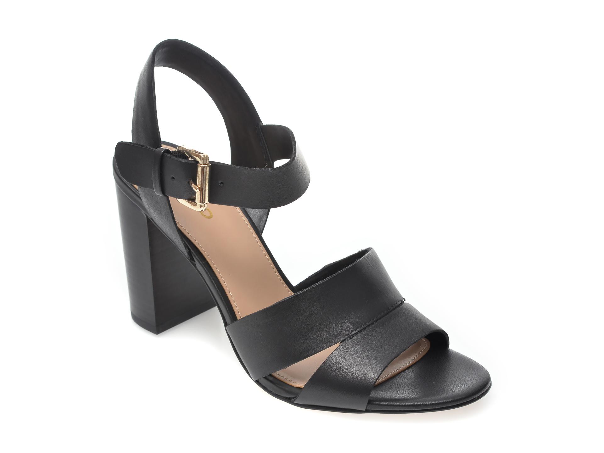 Sandale ALDO negre, Caparosa001, din piele naturala New