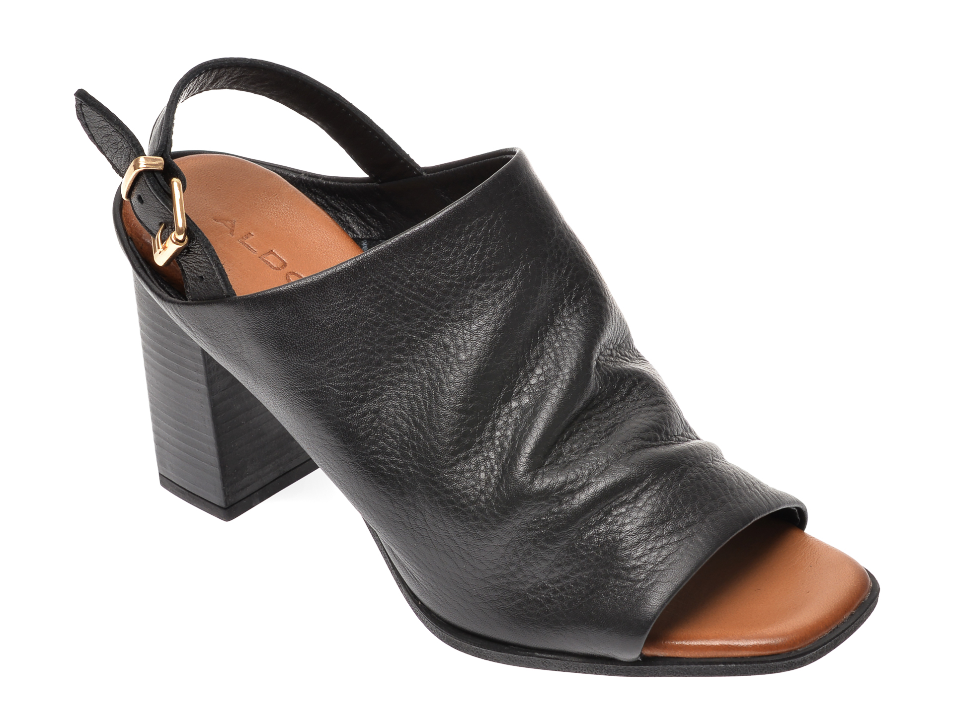 Sandale ALDO negre, Casameada001, din piele naturala imagine otter.ro