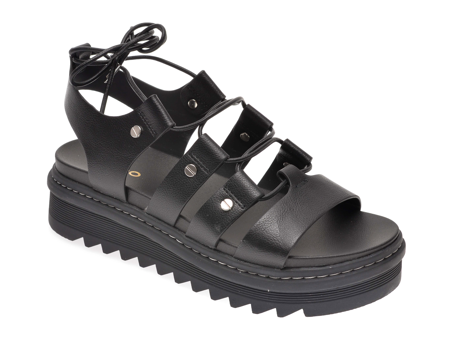 Sandale ALDO negre, Dasdez001, din piele ecologica New