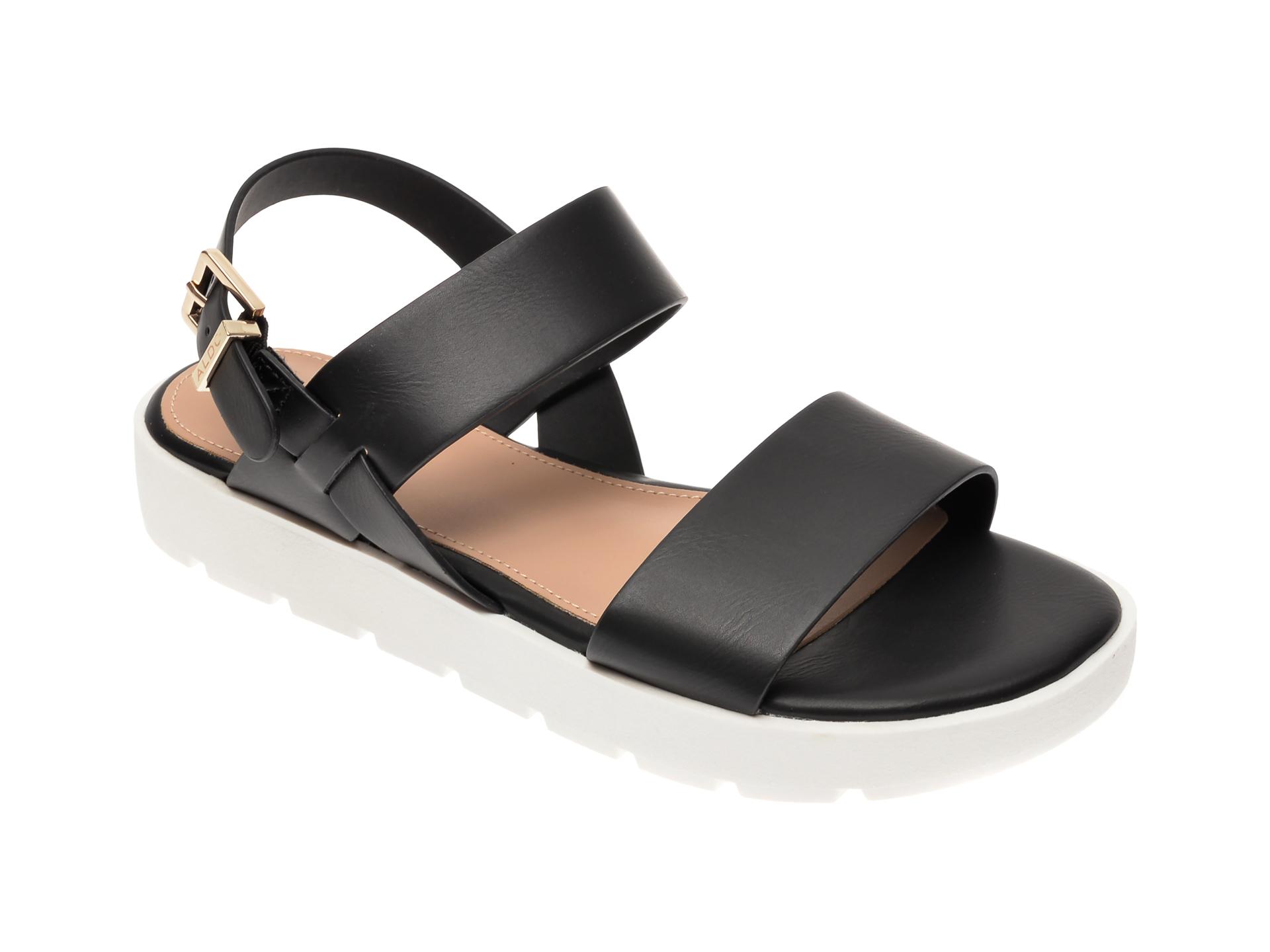 Sandale ALDO negre, Dwylia001, din piele ecologica