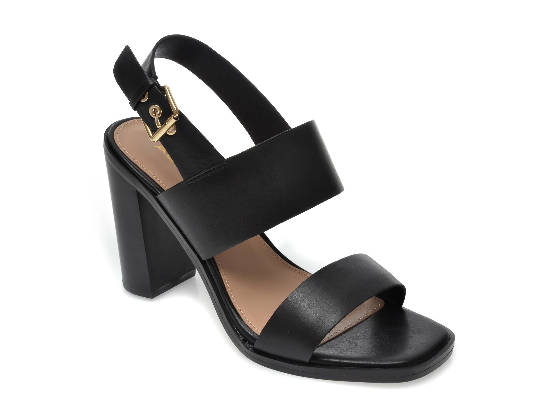 Sandale ALDO negre, Fielia001, din piele naturala imagine otter.ro 2021