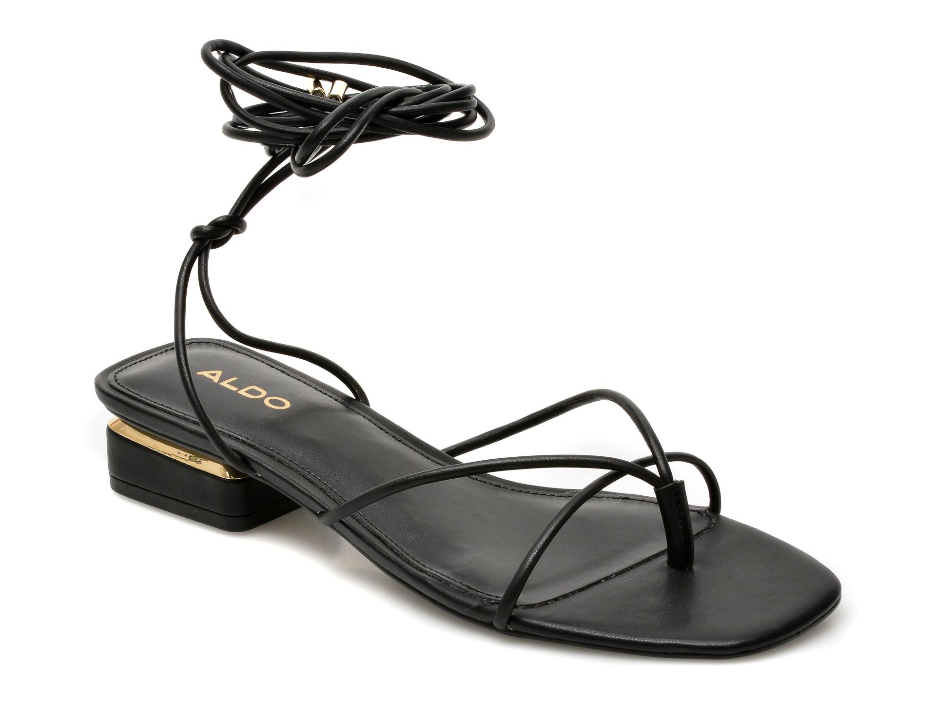 Sandale ALDO negre, Giannaflex001, din piele ecologica imagine otter.ro 2021