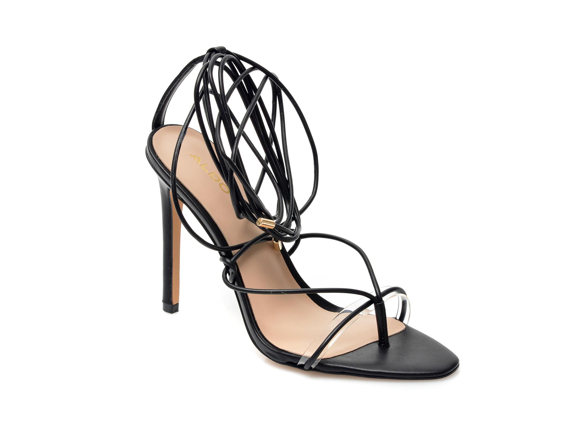Sandale ALDO negre, Glaosa001, din piele ecologica imagine otter.ro 2021