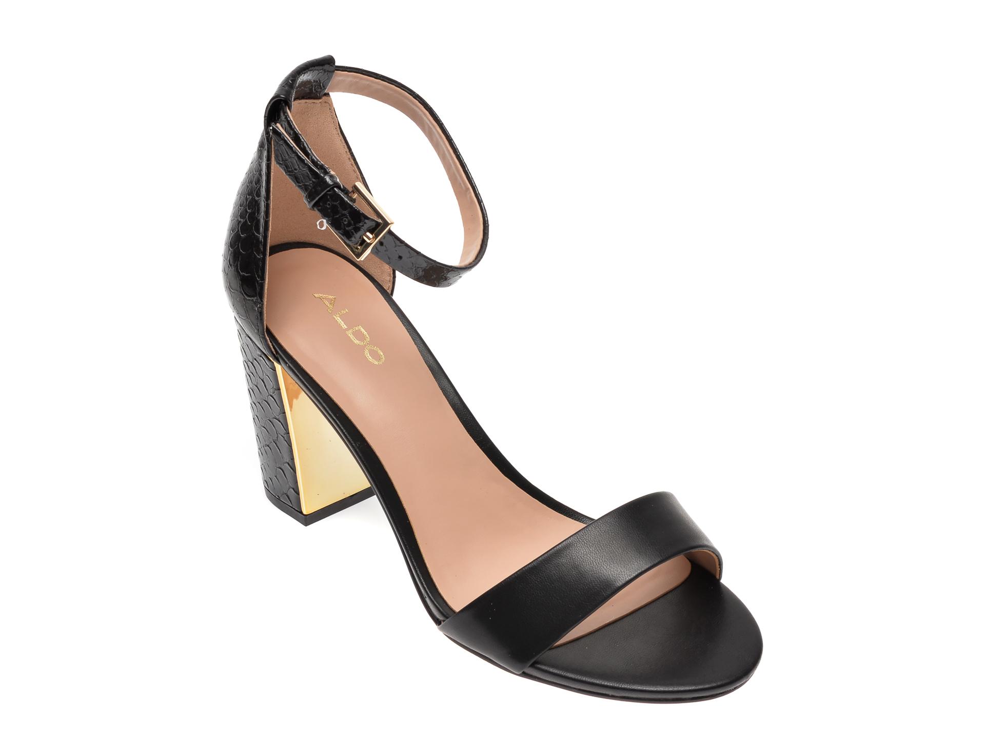 Sandale ALDO negre, Gradifolia001, din piele ecologica