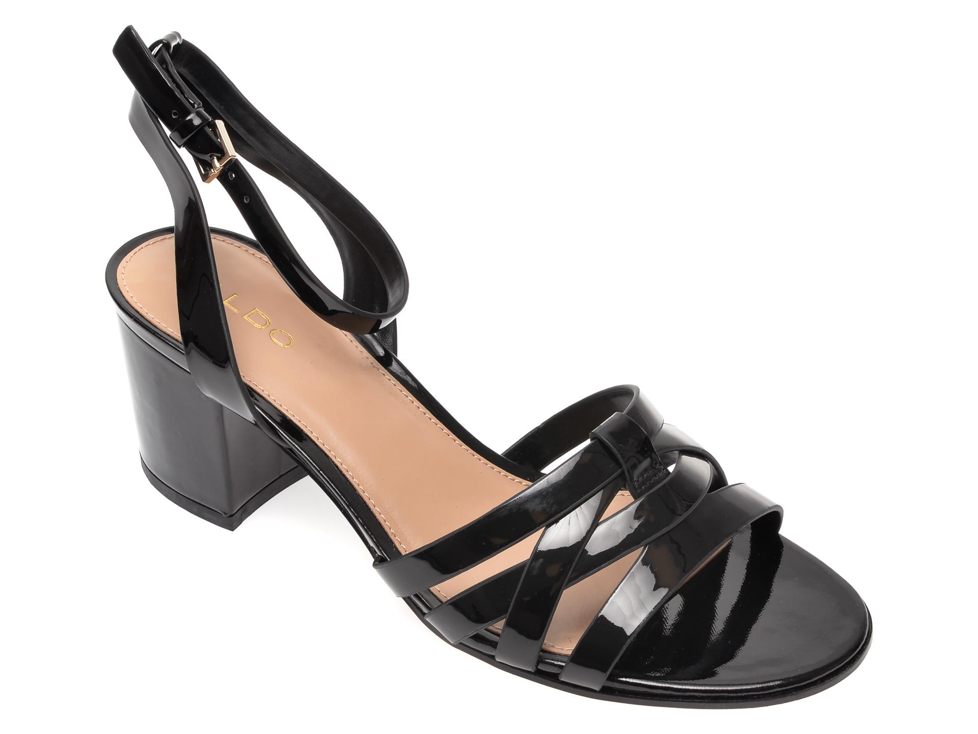 Sandale ALDO negre, Hillia001, din piele ecologica